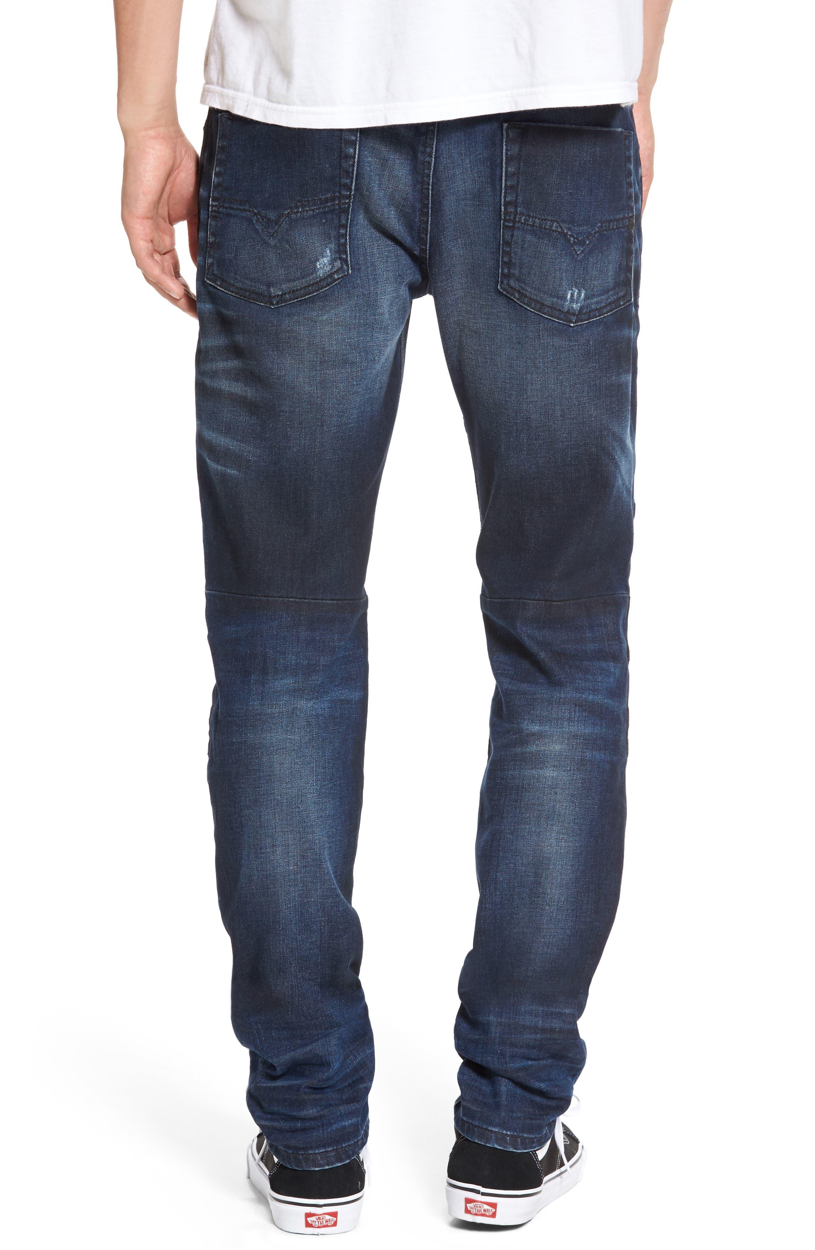 Fourk Skinny Fit Jeans,                             Alternate thumbnail 2, color,                             Denim