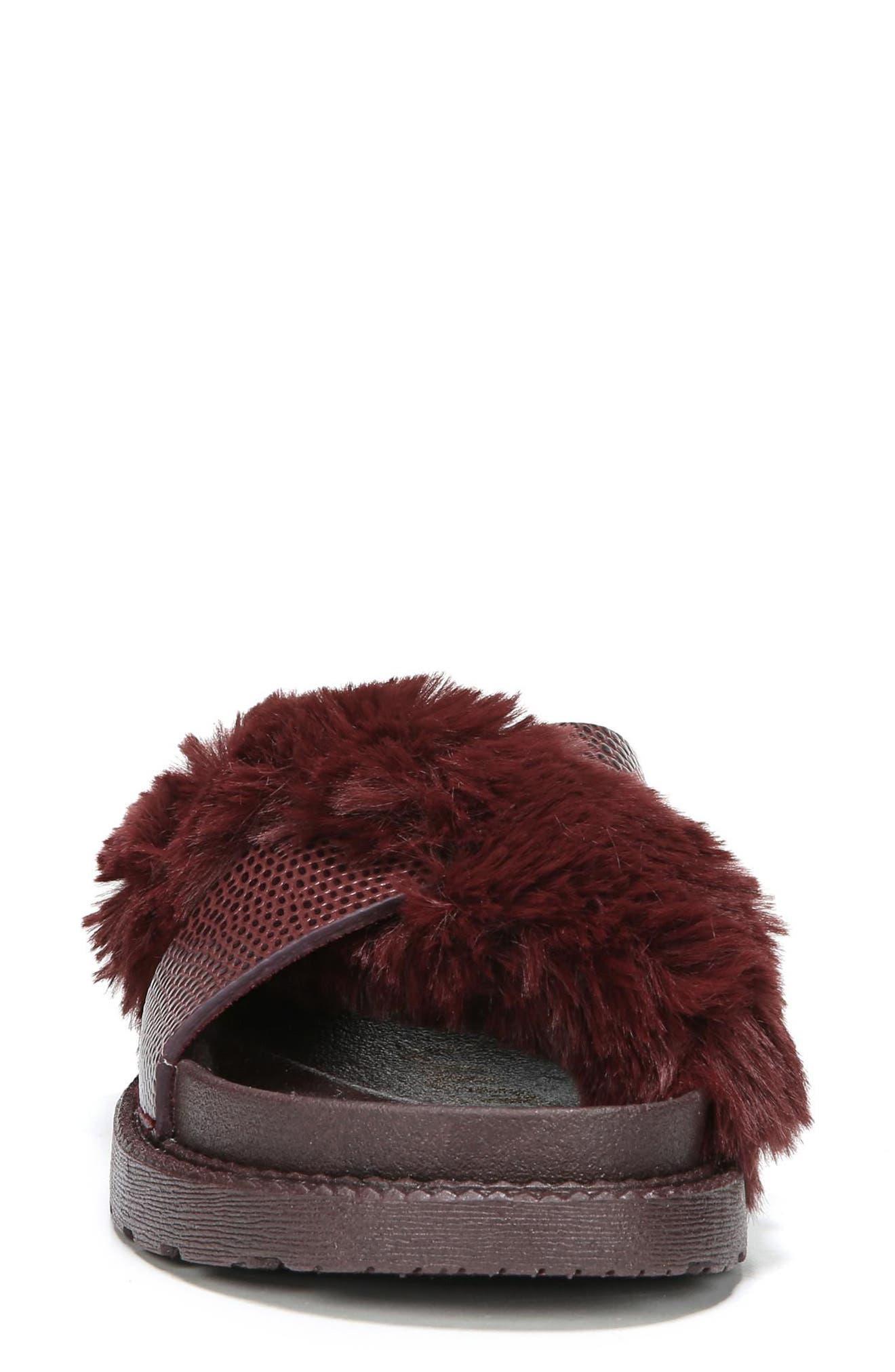 Alternate Image 4  - Sam Edelman Bianca Faux Fur Cross Strap Sandal (Women)