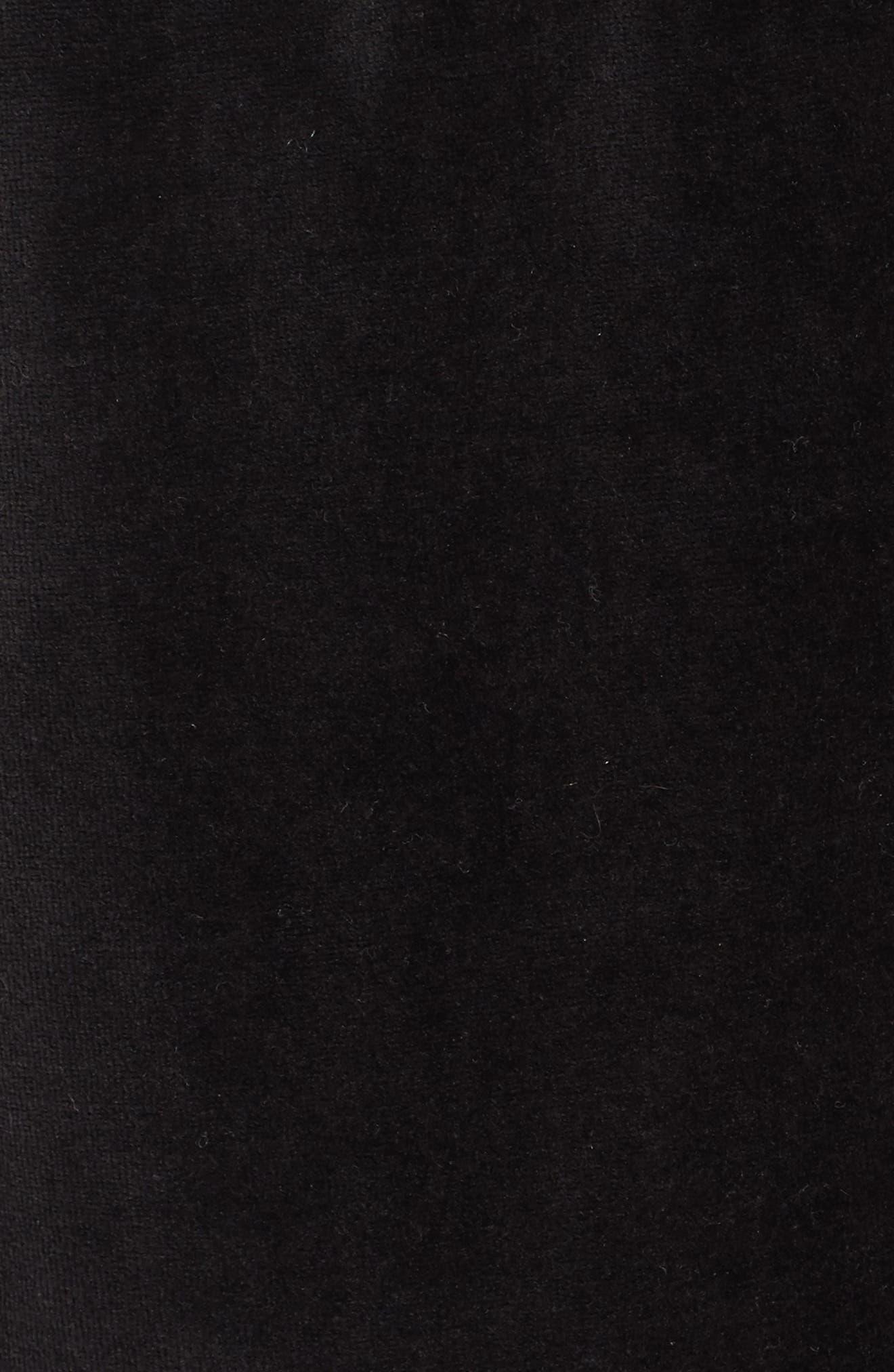 Velour Jogger Pants,                             Alternate thumbnail 5, color,                             Black Rock
