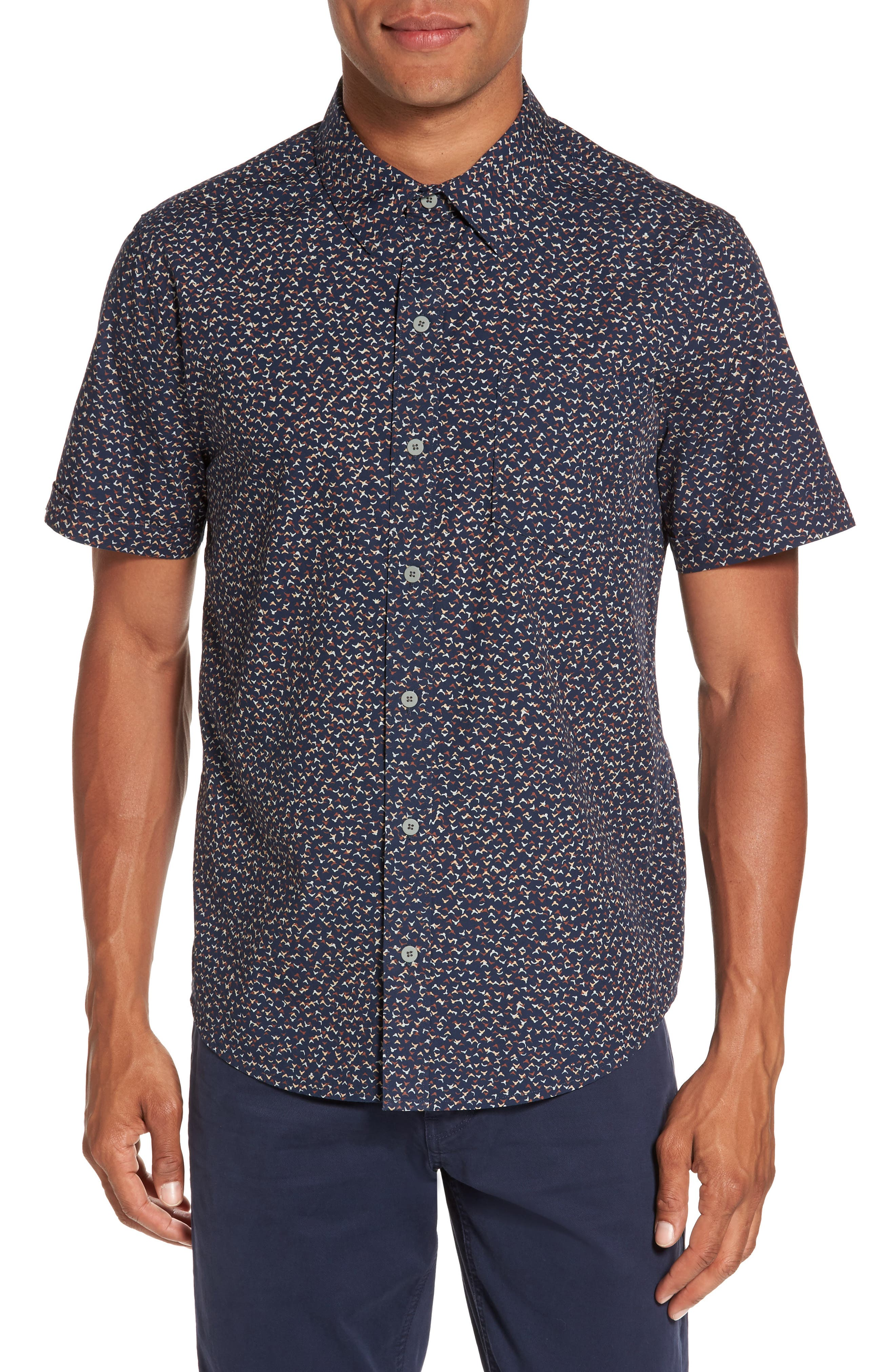 Alternate Image 1 Selected - PAIGE Becker Patterned Woven Shirt