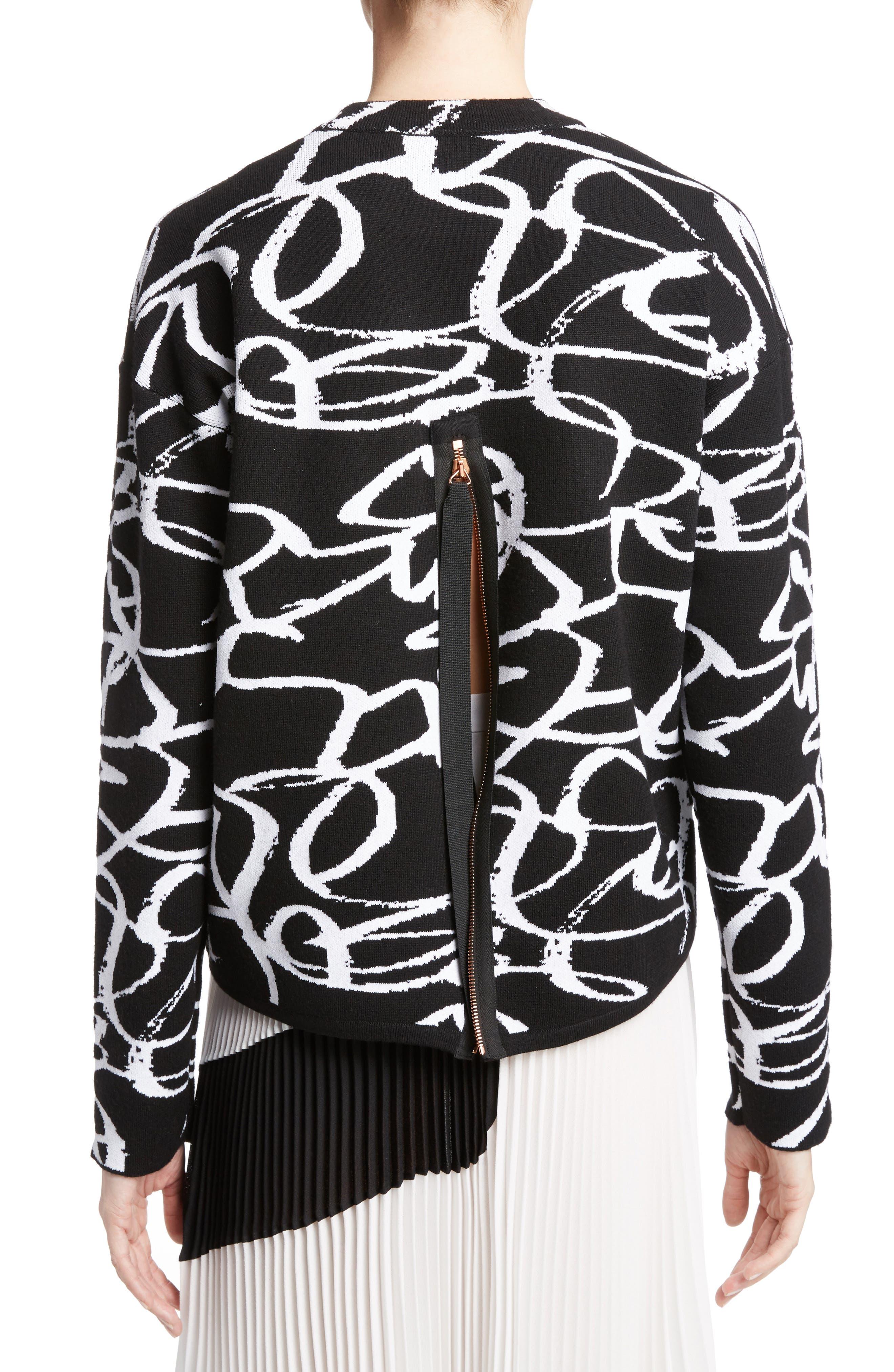 Alternate Image 2  - Proenza Schouler Brushstroke Jacquard Sweater