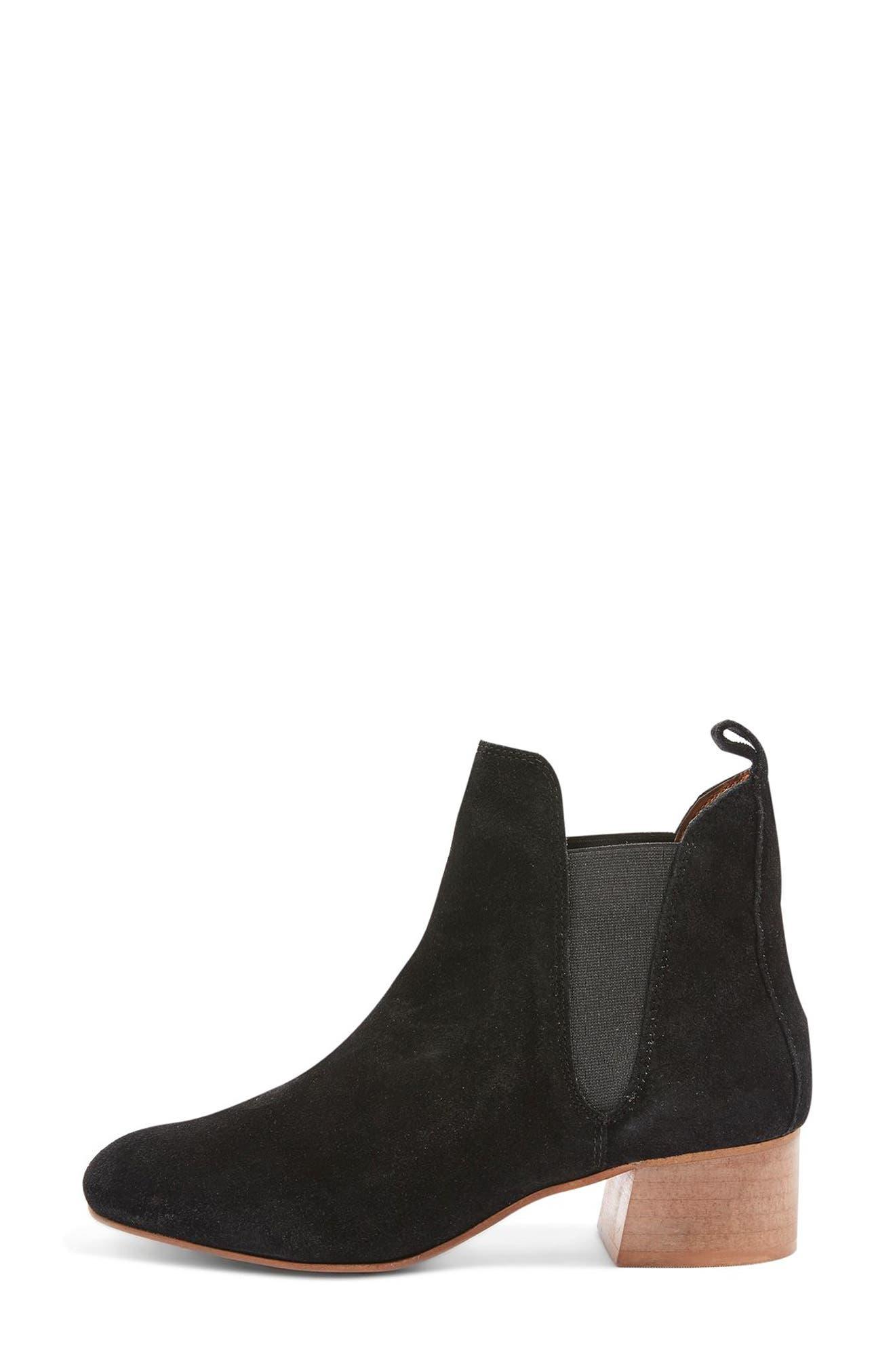 Barley Chelsea Boot,                             Alternate thumbnail 2, color,                             Black