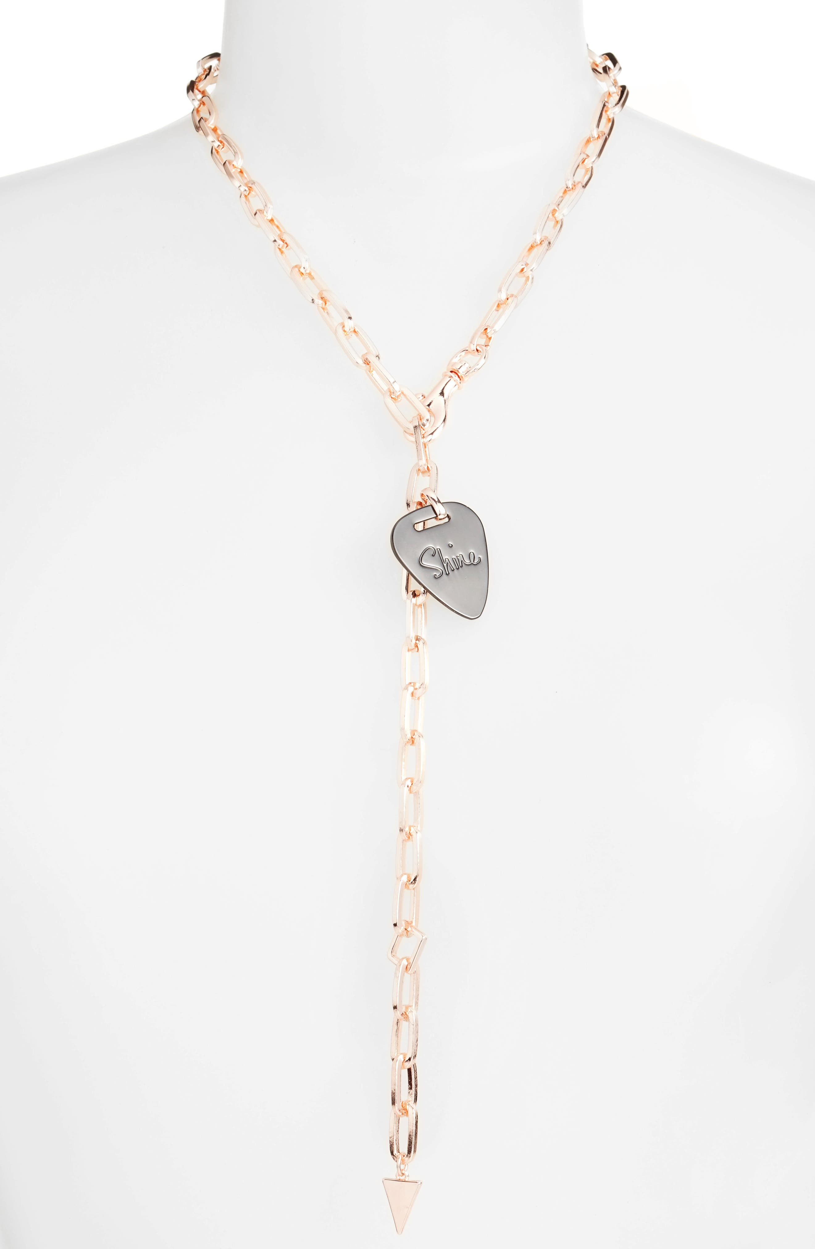 Main Image - Rebecca Minkoff Guitar Pick Drop Necklace