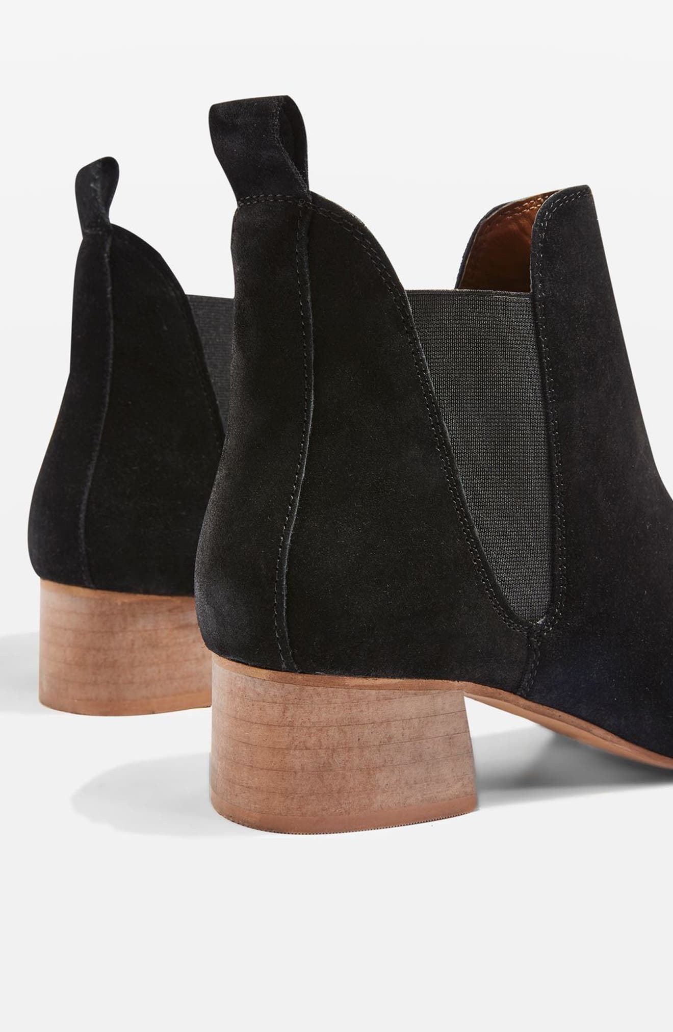 Barley Chelsea Boot,                             Alternate thumbnail 3, color,                             Black