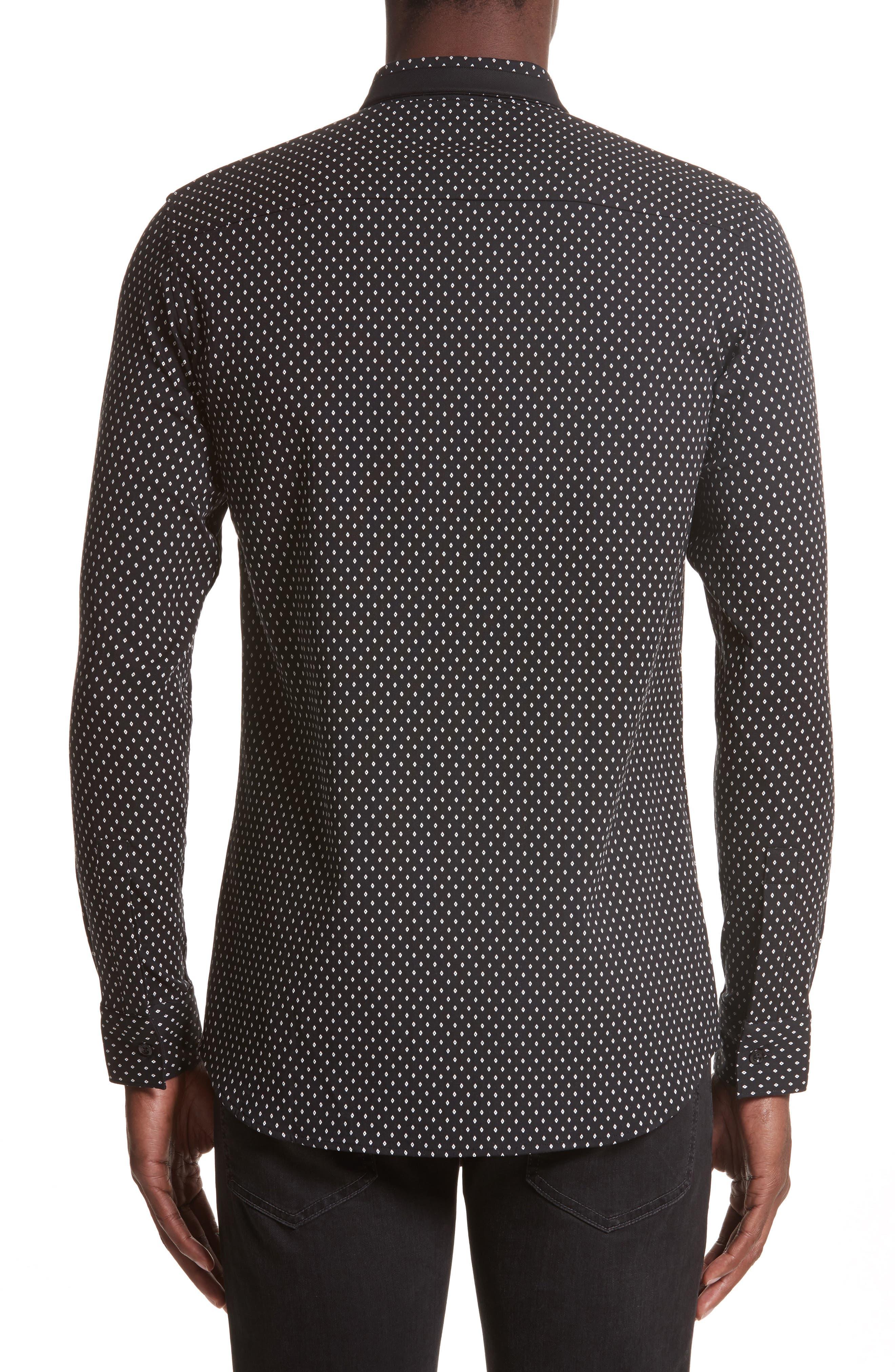 Alternate Image 2  - Givenchy Jacquard Collar Stay Shirt
