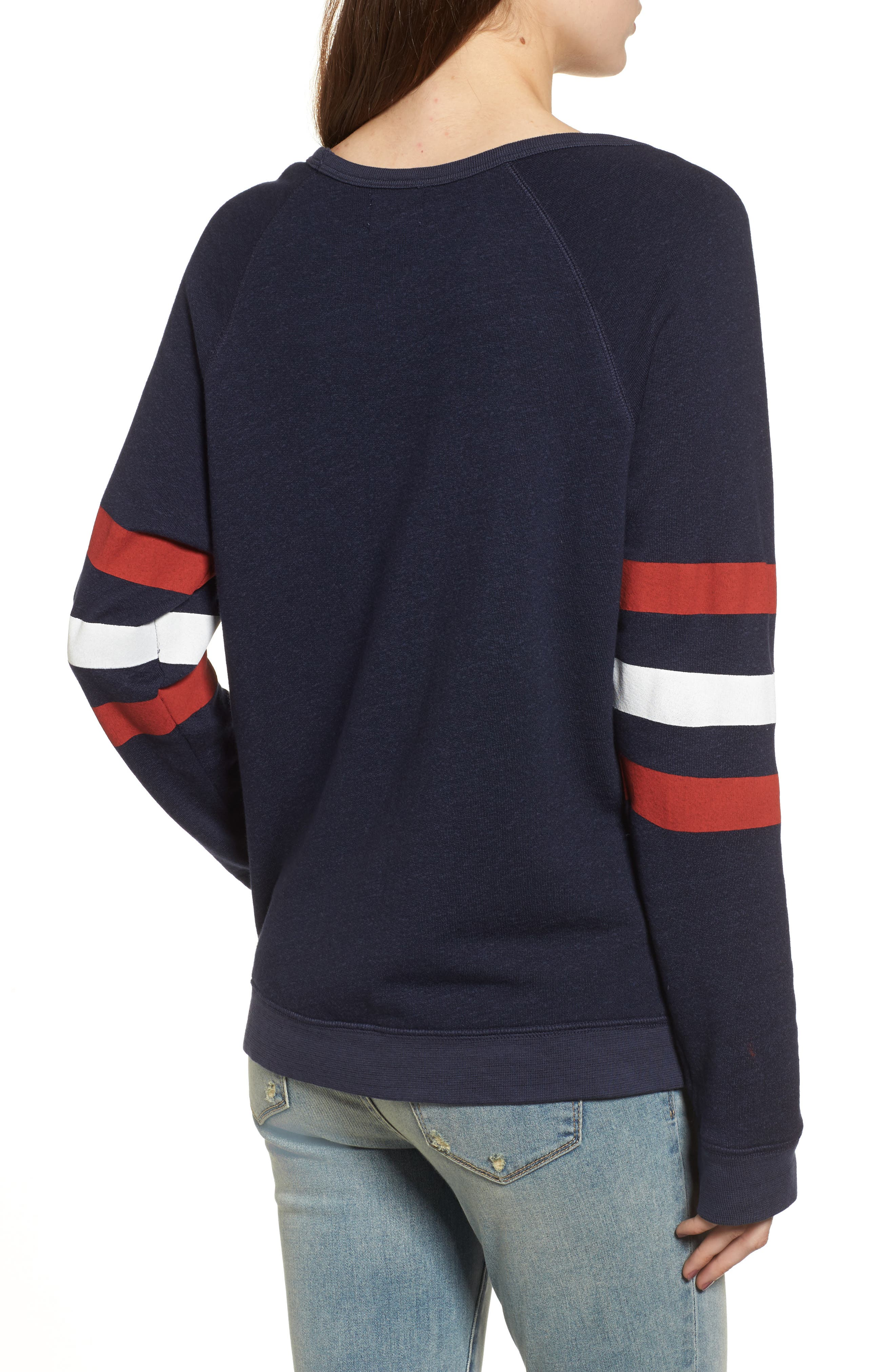 Here for Halftime Pullover,                             Alternate thumbnail 3, color,                             Navy
