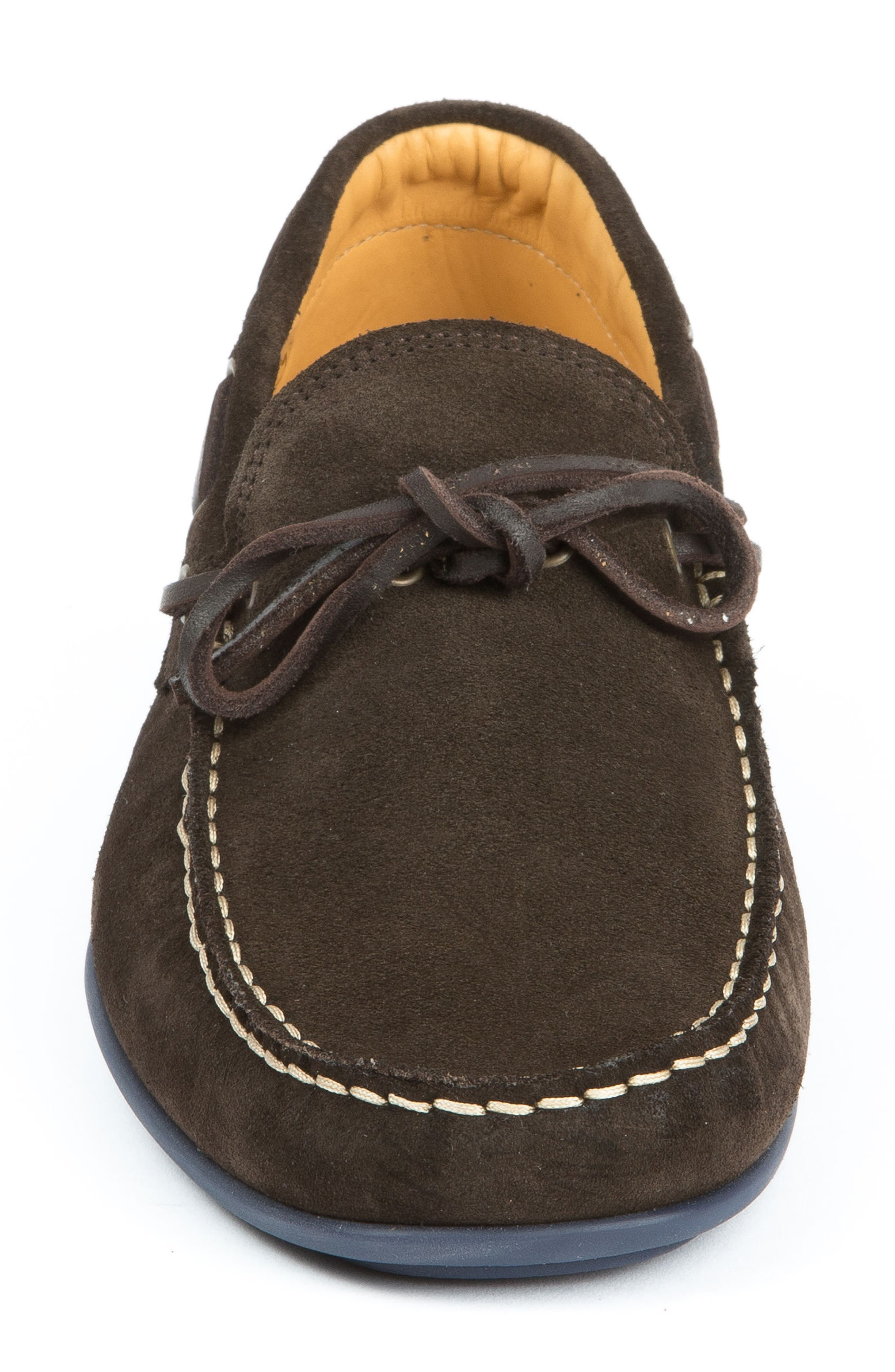 Kingstons Driving Shoe,                             Alternate thumbnail 4, color,                             Brown Suede