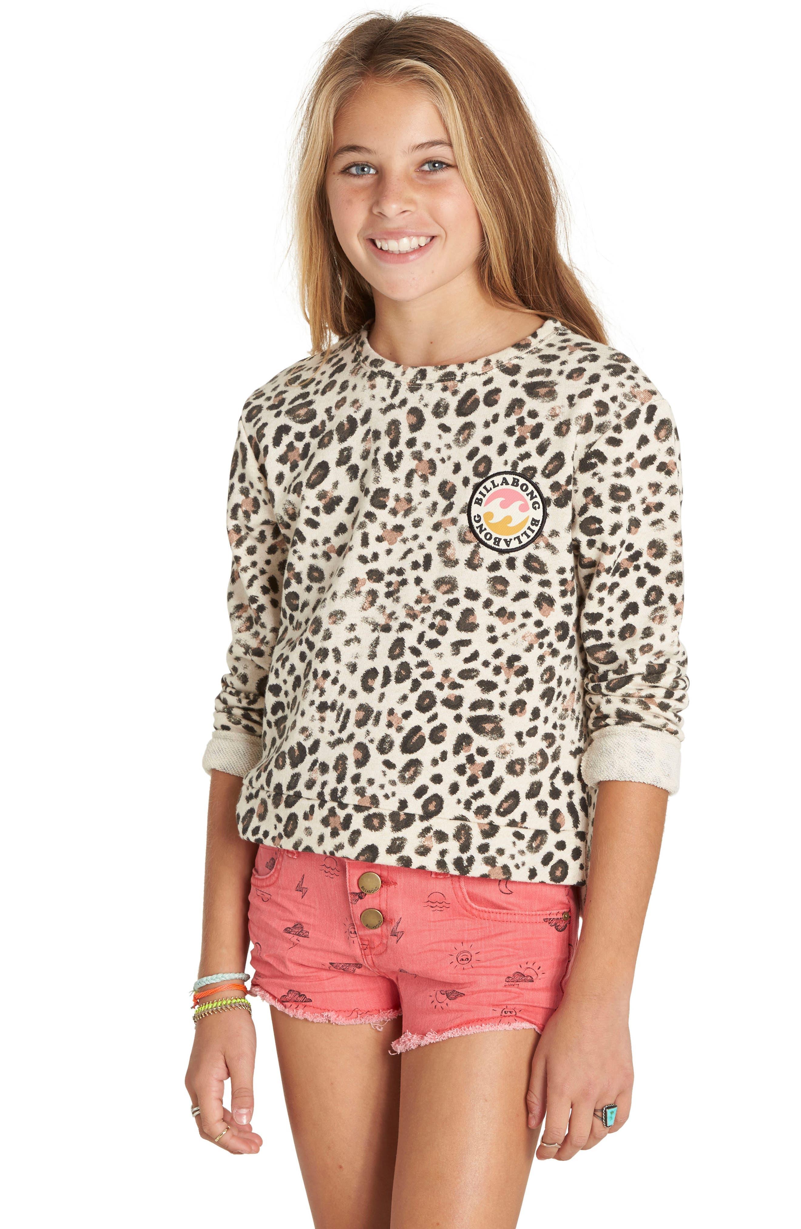 Billabong Jungle Dream Sweatshirt (Little Girls & Big Girls)