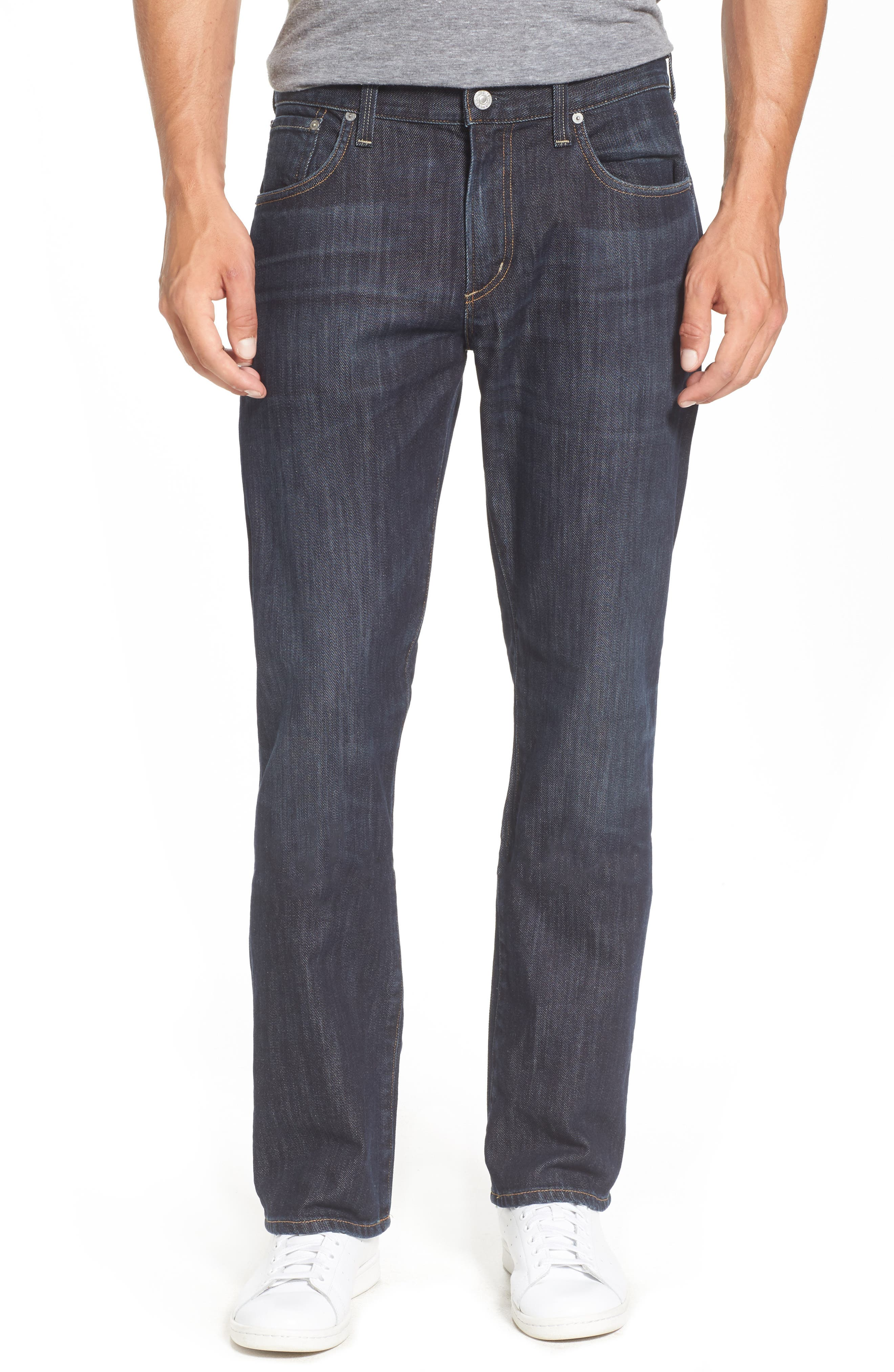 Perfect Relaxed Straight Leg Jeans,                         Main,                         color, Hanover