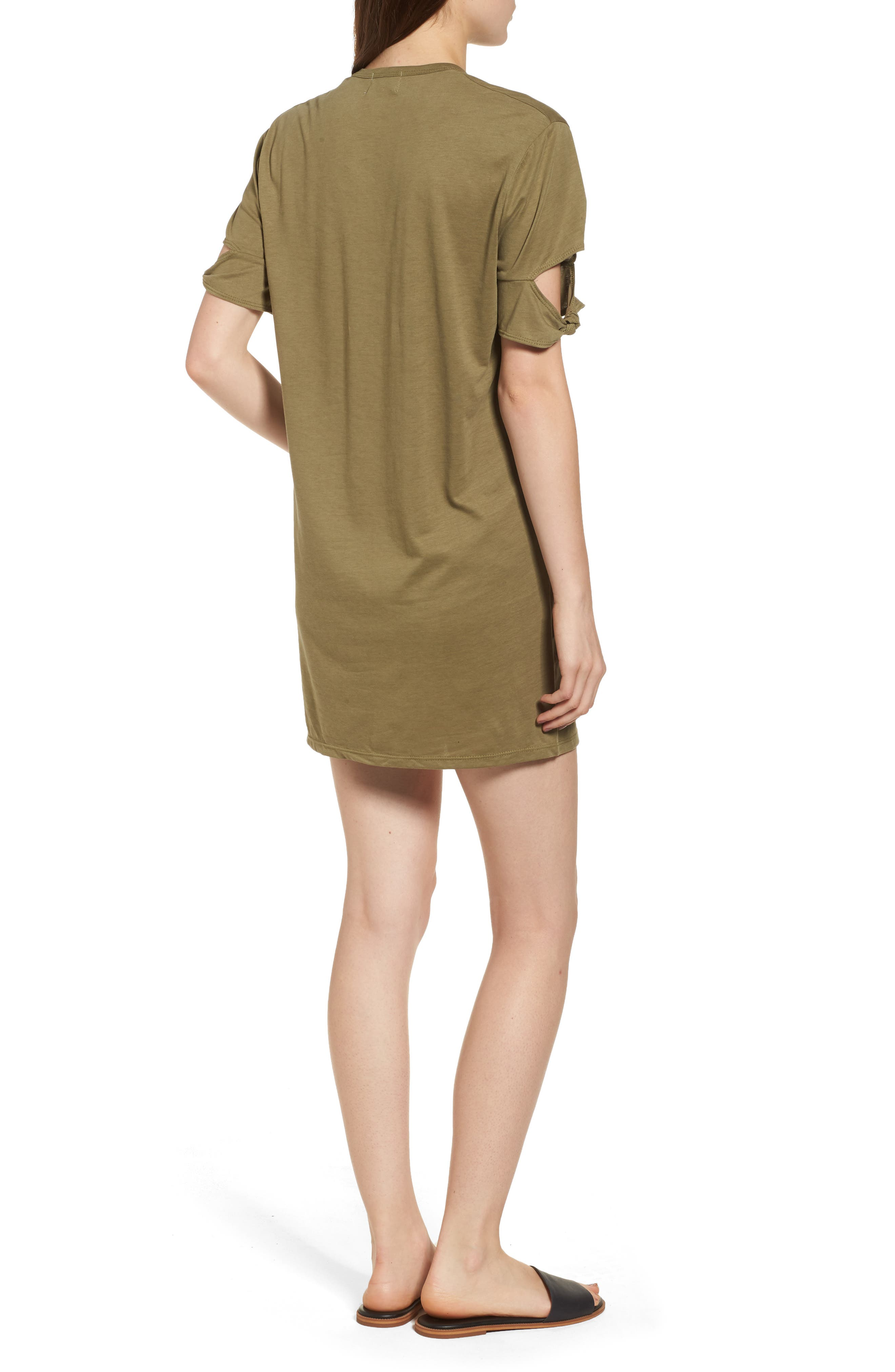 Alternate Image 2  - PST by Project Social T Knotted Sleeve T-Shirt Dress