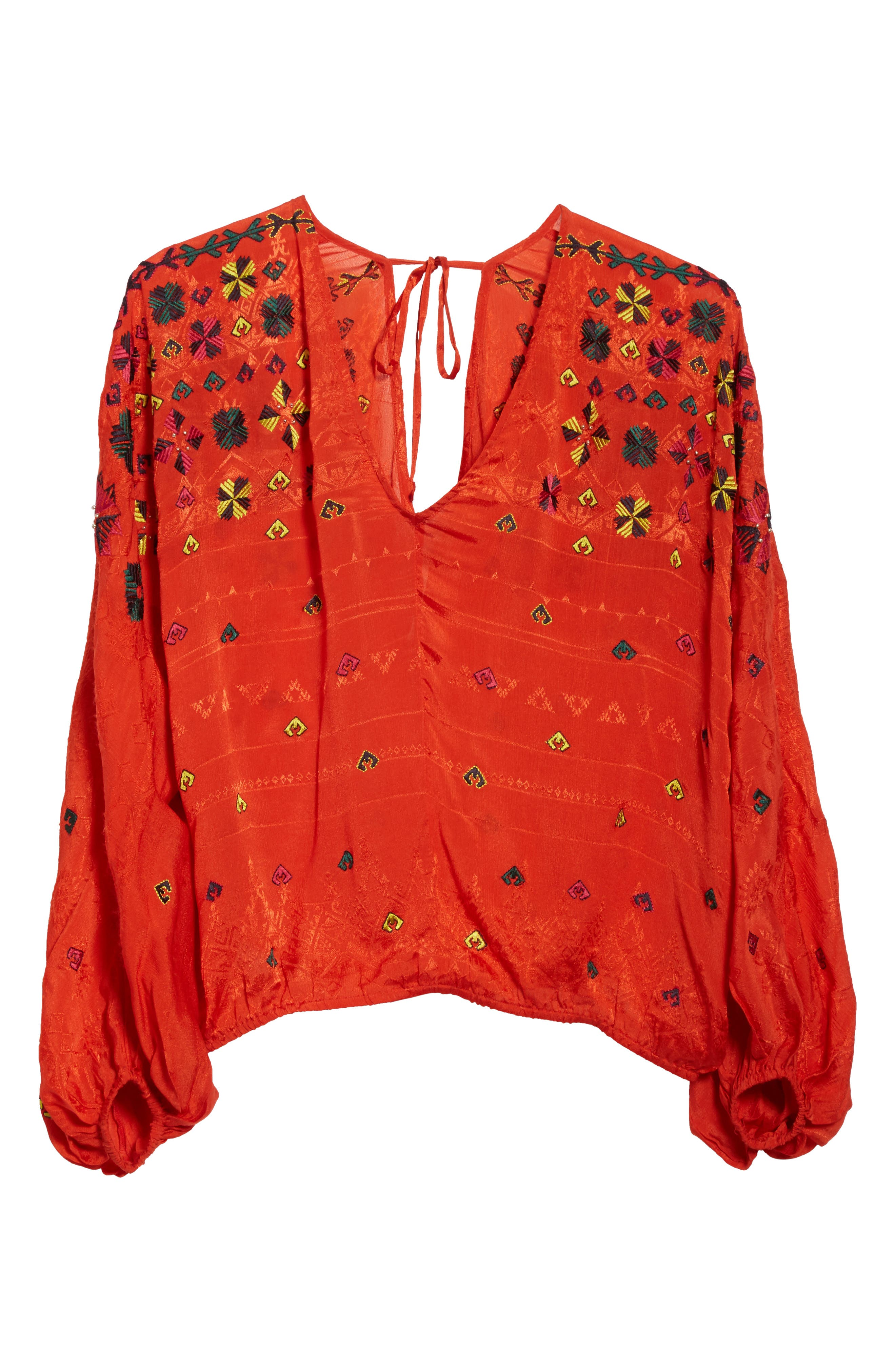 Alternate Image 7  - Free People Music in Time Embroidered Top
