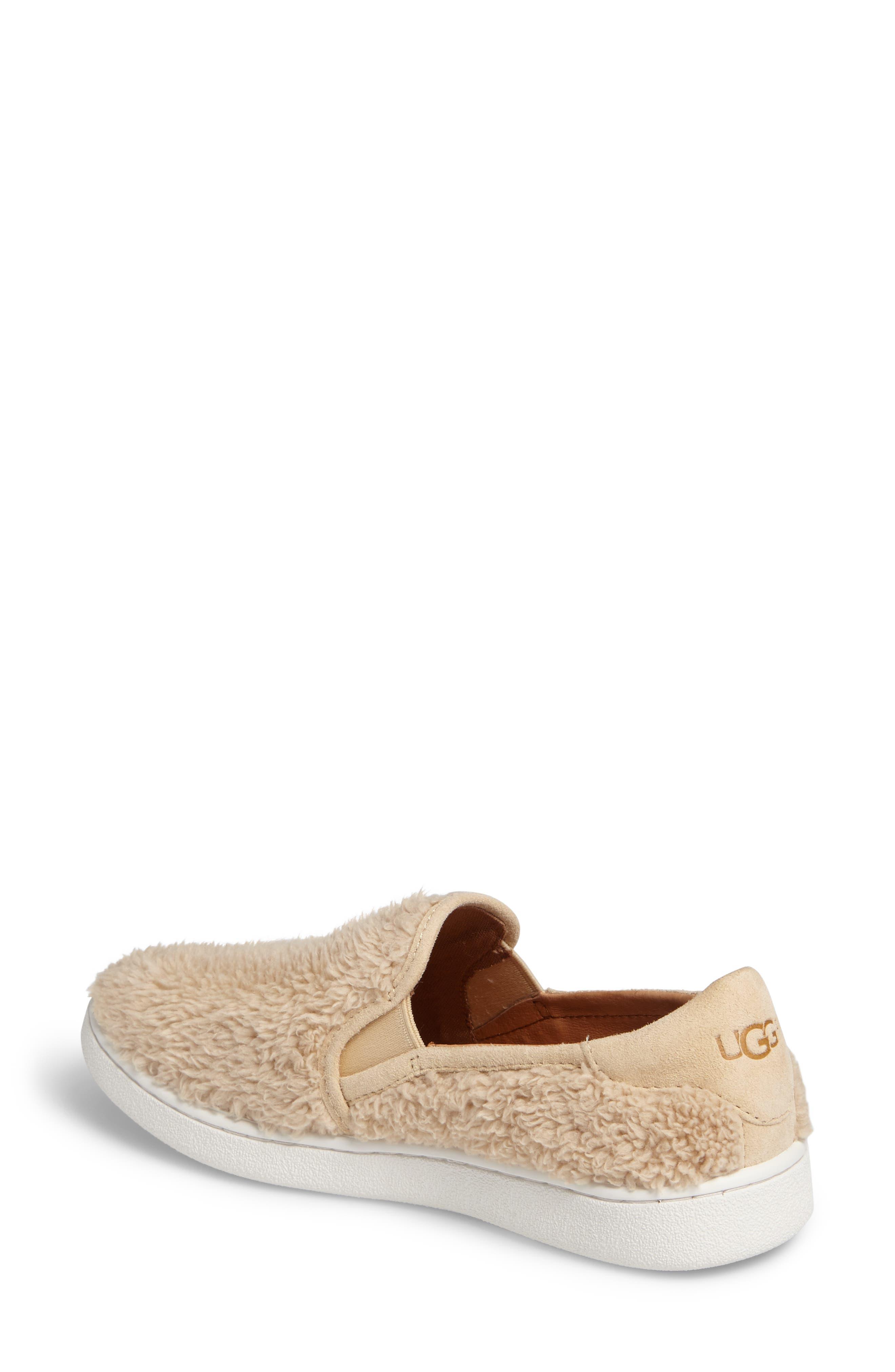 Alternate Image 2  - UGG® Ricci Plush Slip-On Sneaker (Women)