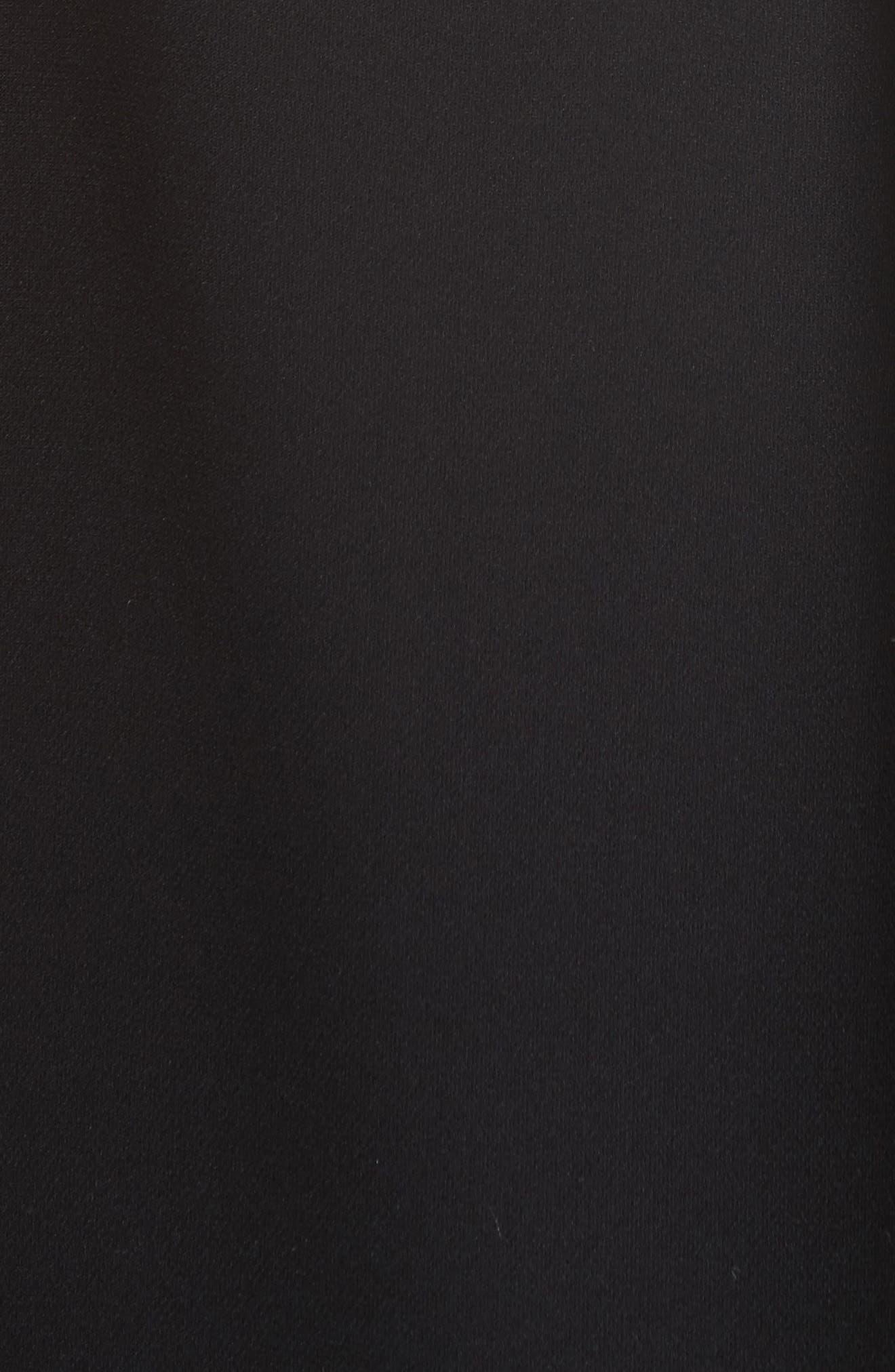 Percy Silk Double Georgette Blouse,                             Alternate thumbnail 6, color,                             Black
