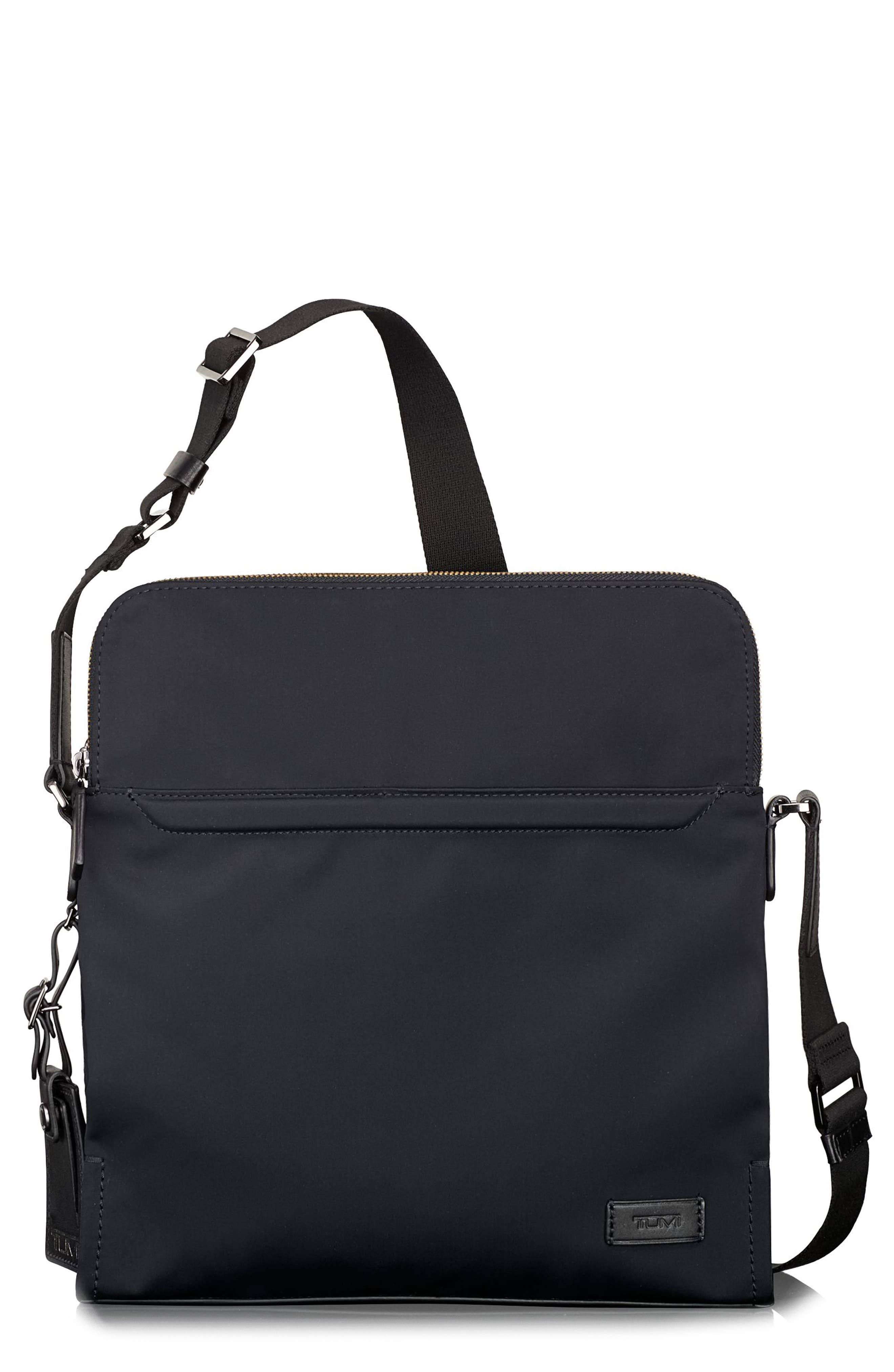 Harrison Stratton Messenger Bag,                             Main thumbnail 1, color,                             Black Nylon