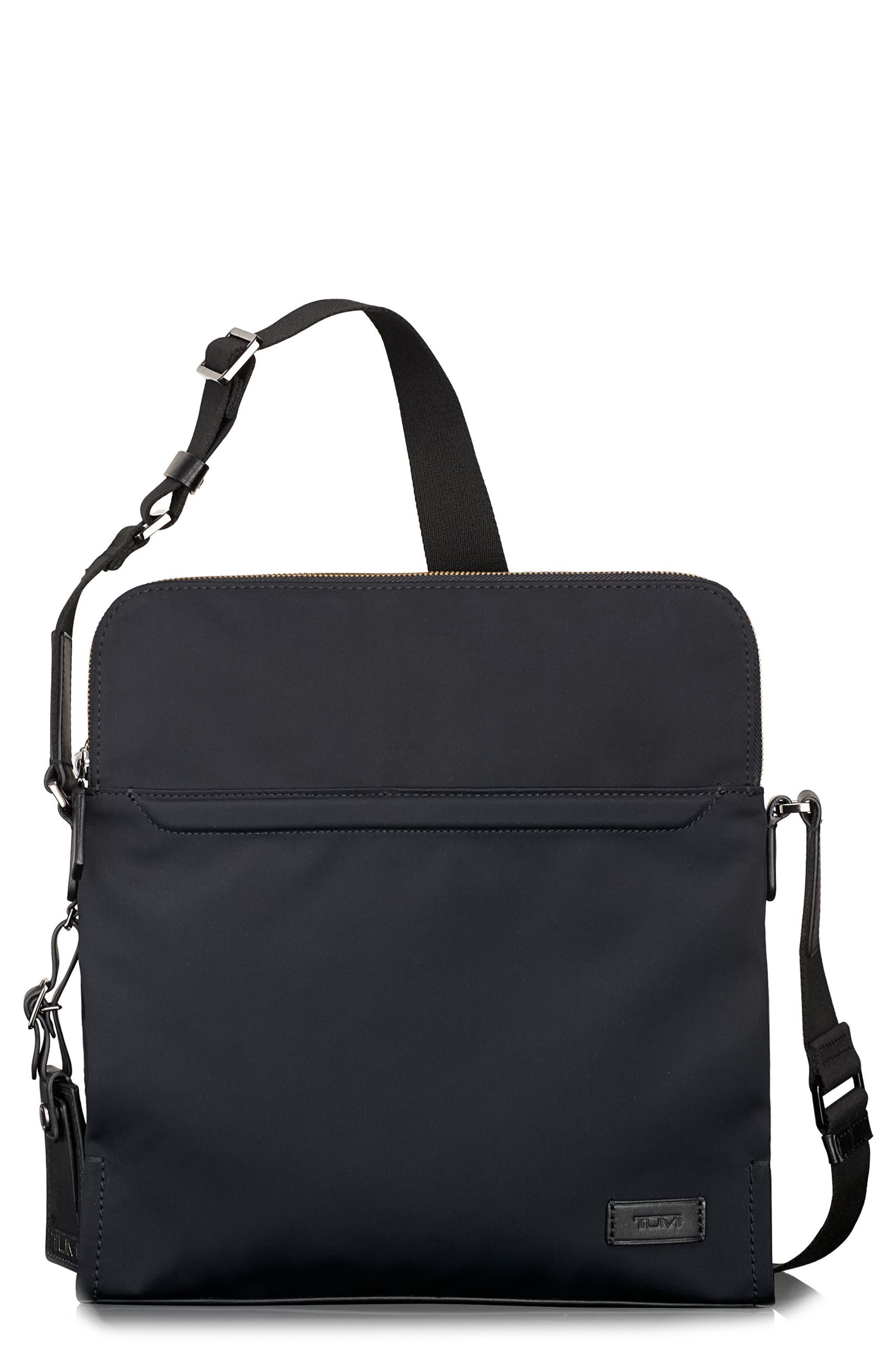 Harrison Stratton Messenger Bag,                         Main,                         color, Black Nylon