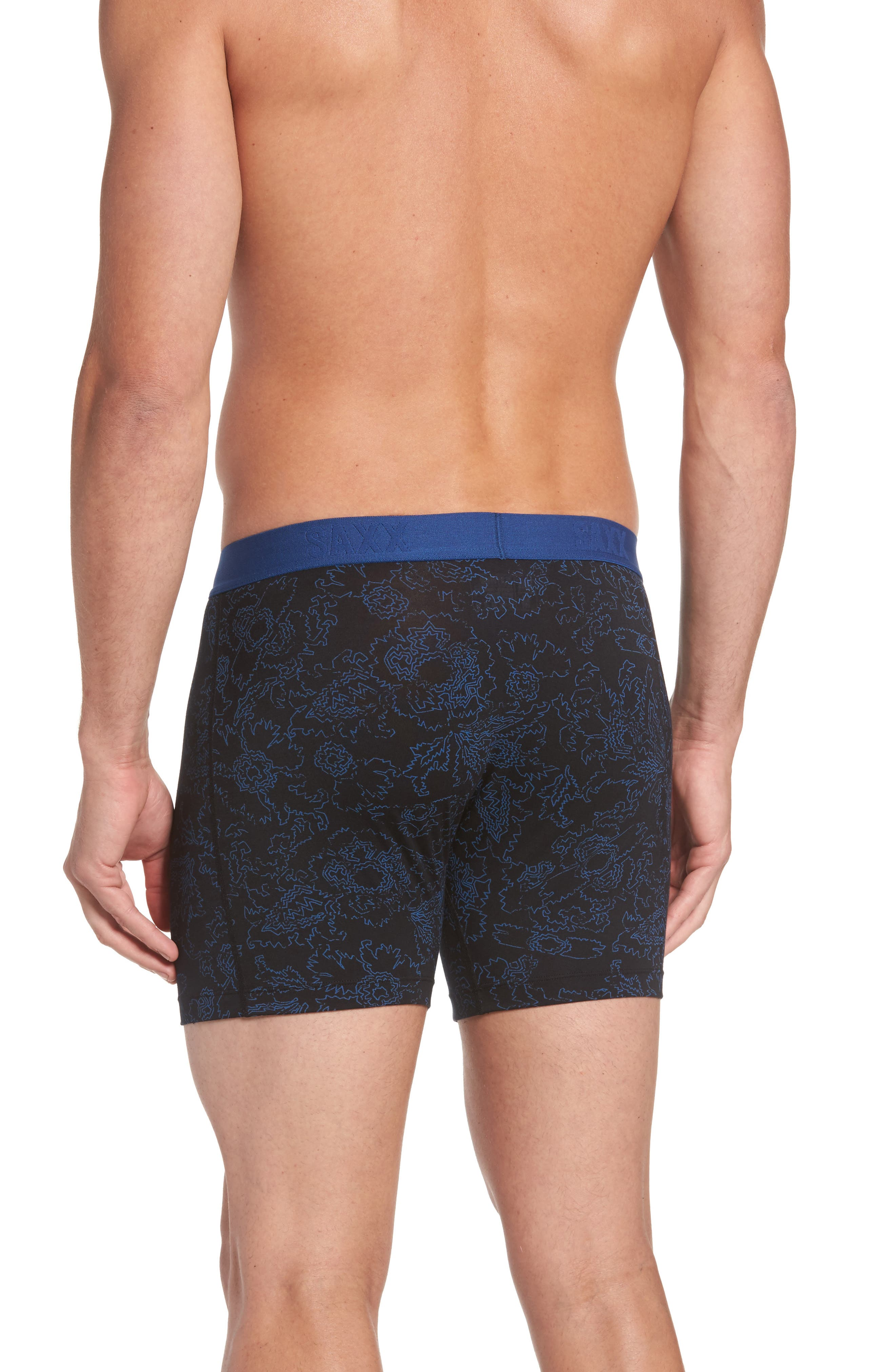 Alternate Image 2  - SAXX Platinum Abstract Floral Boxer Briefs
