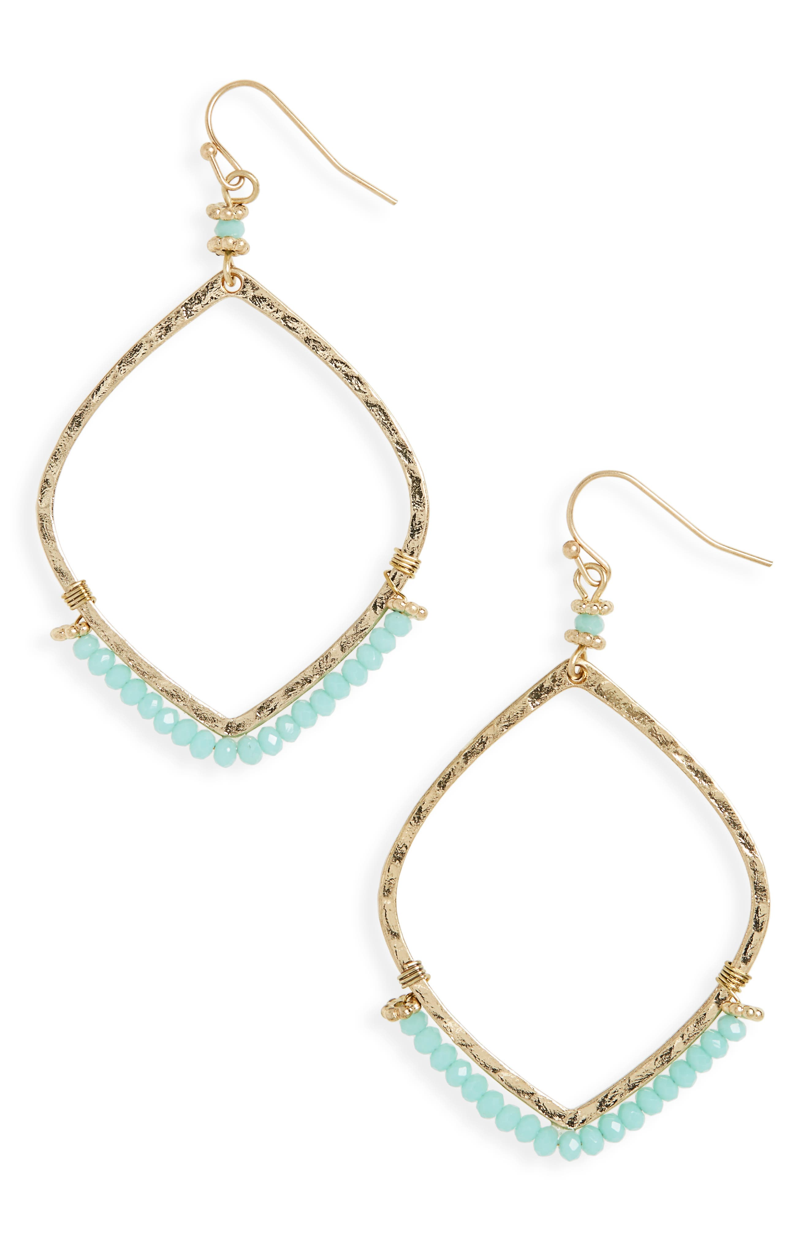 CANVAS JEWELRY Canvas Beaded Drop Earrings
