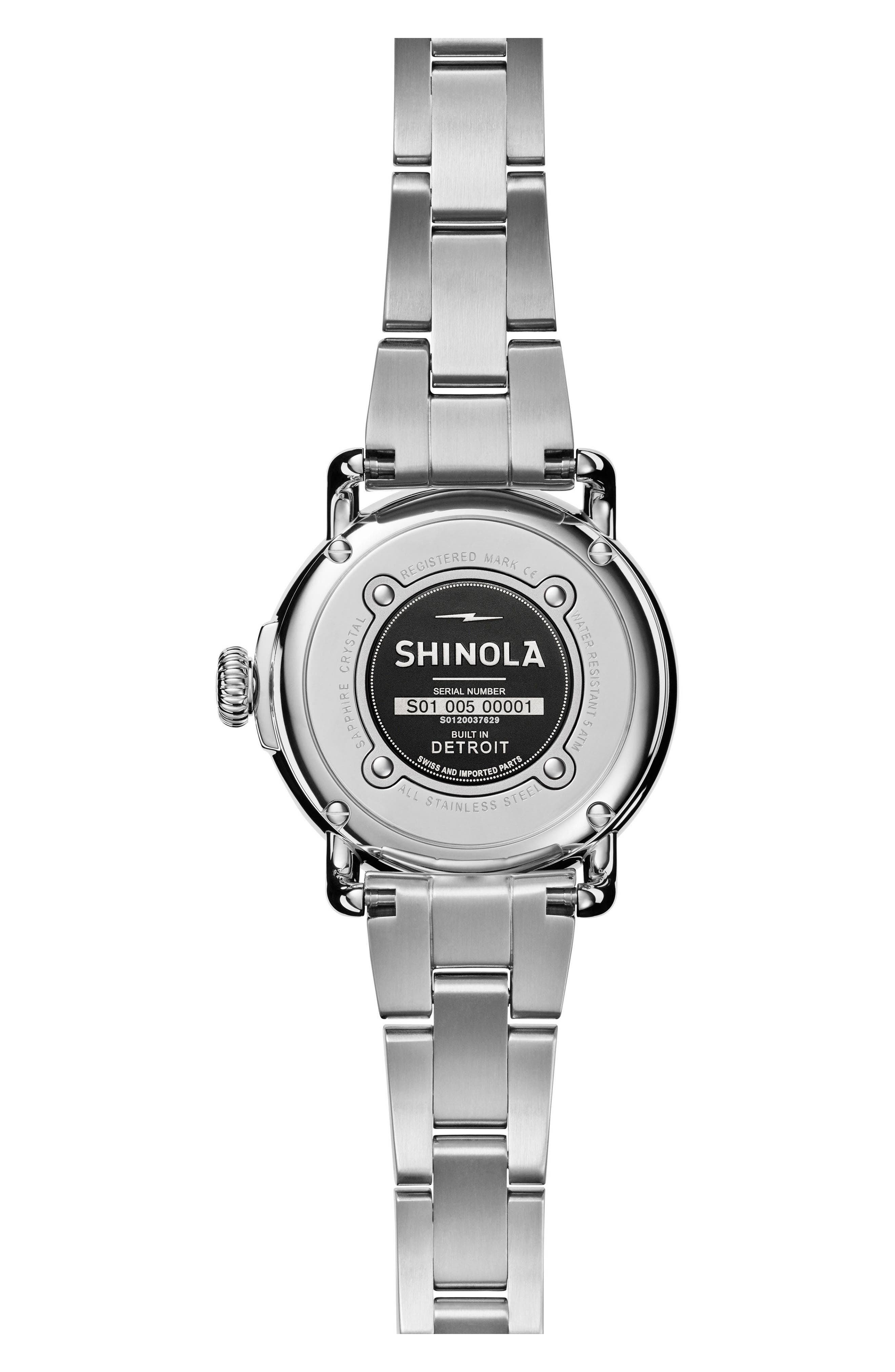 Runwell Bracelet Watch, 28mm,                             Alternate thumbnail 2, color,                             Silver/ White Mop/ Silver