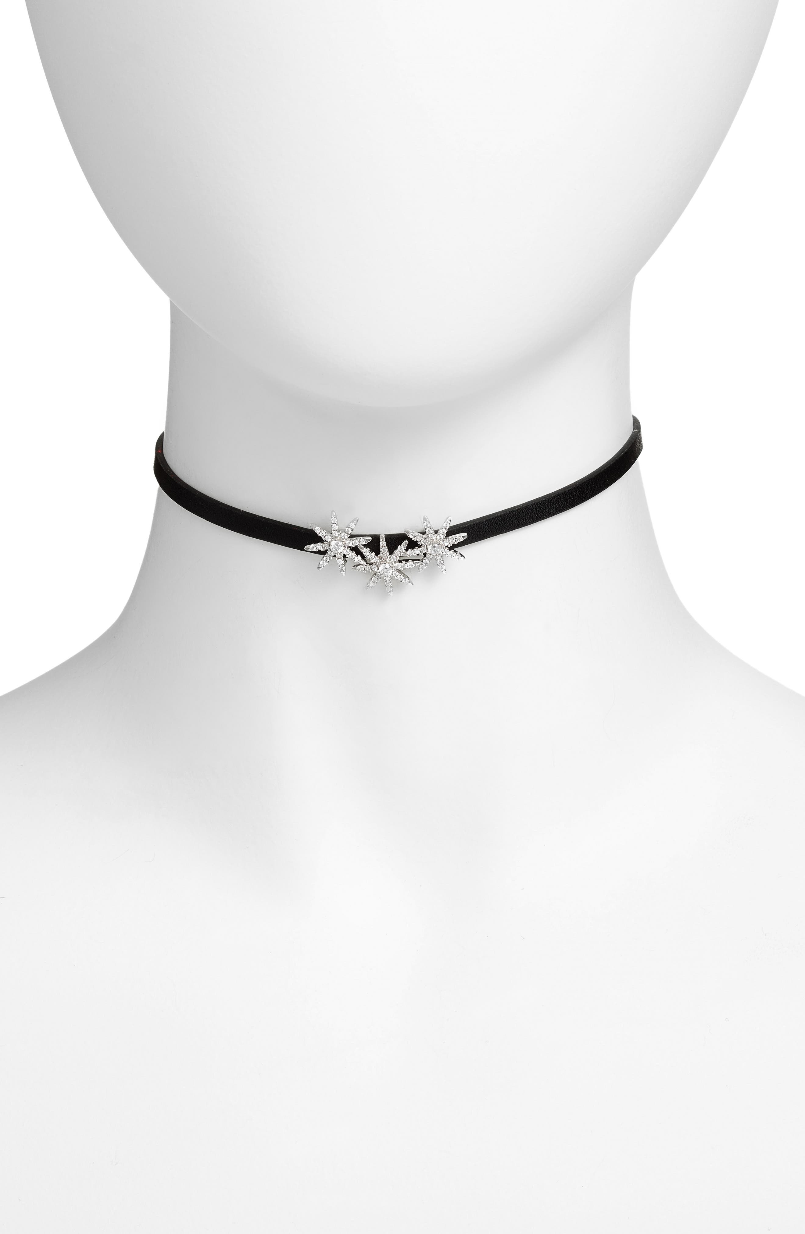 Alternate Image 1 Selected - CZ by Kenneth Jay Lane Three Starburst Choker