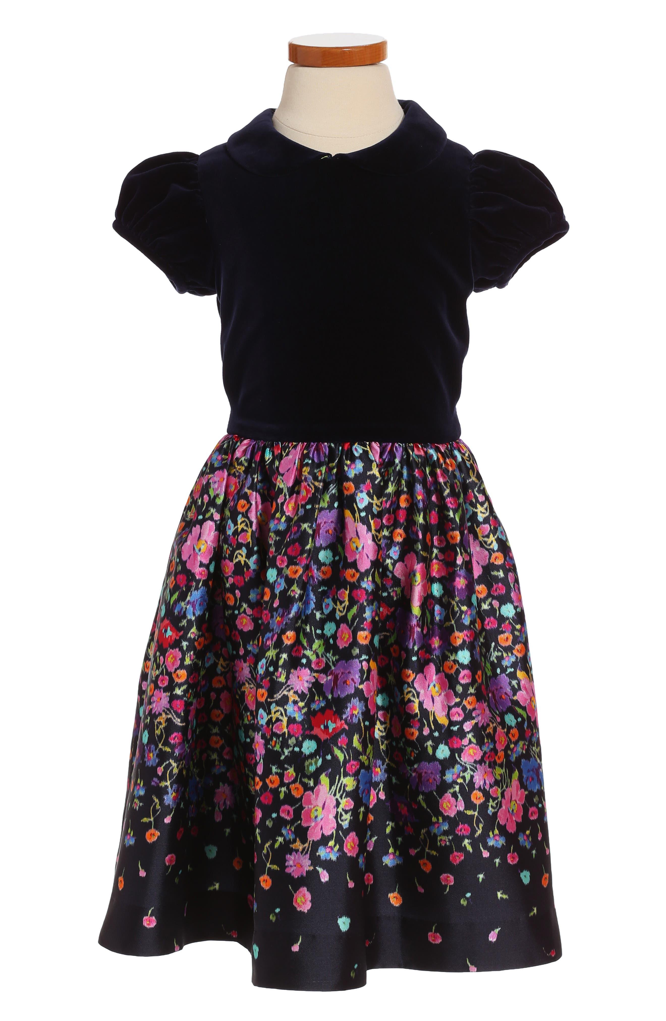 Oscar de la Renta Chine Garden Mikado Party Dress (Toddler Girls & Little Girls)