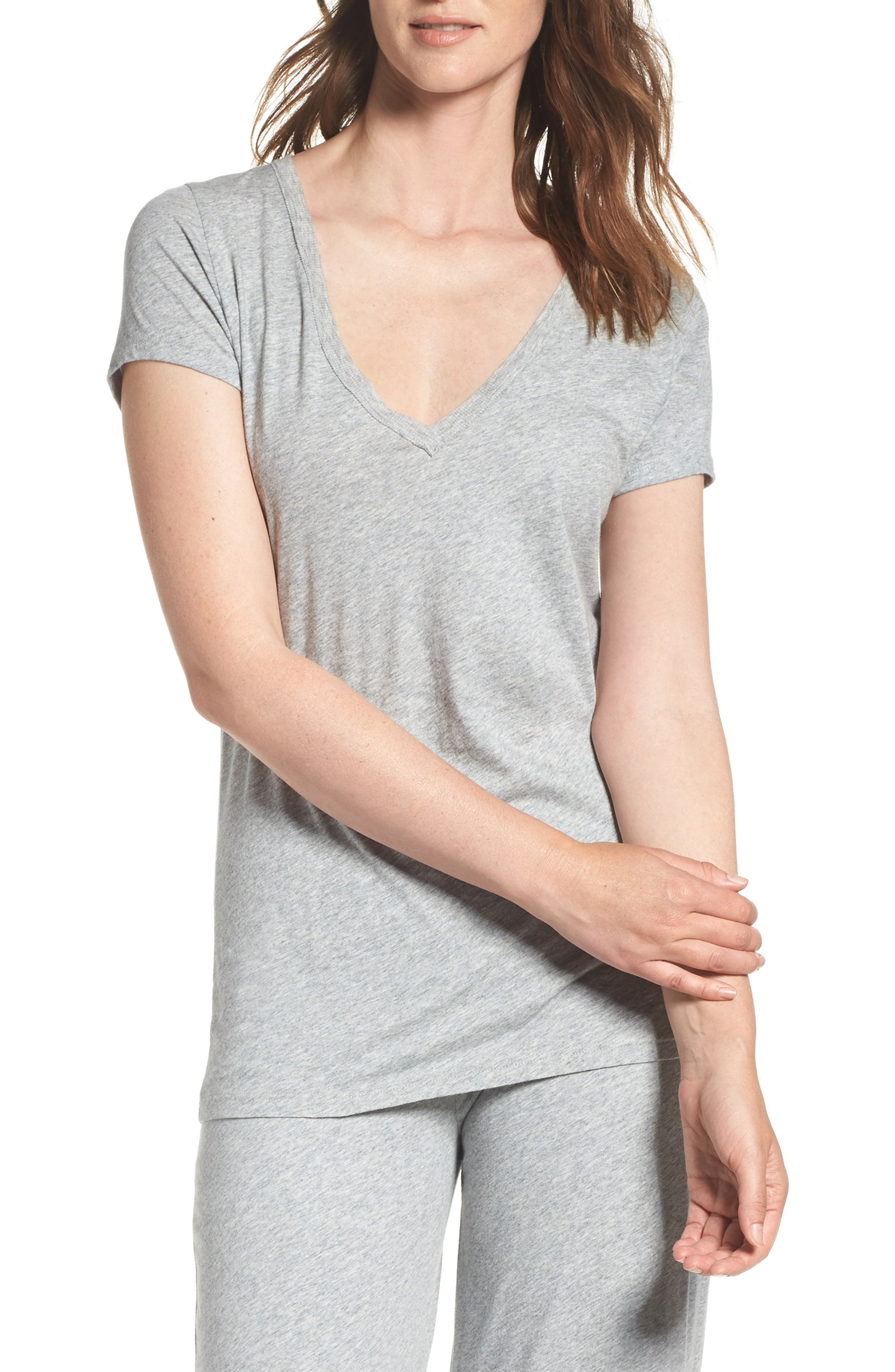 skin V-Neck Pima Cotton Tee