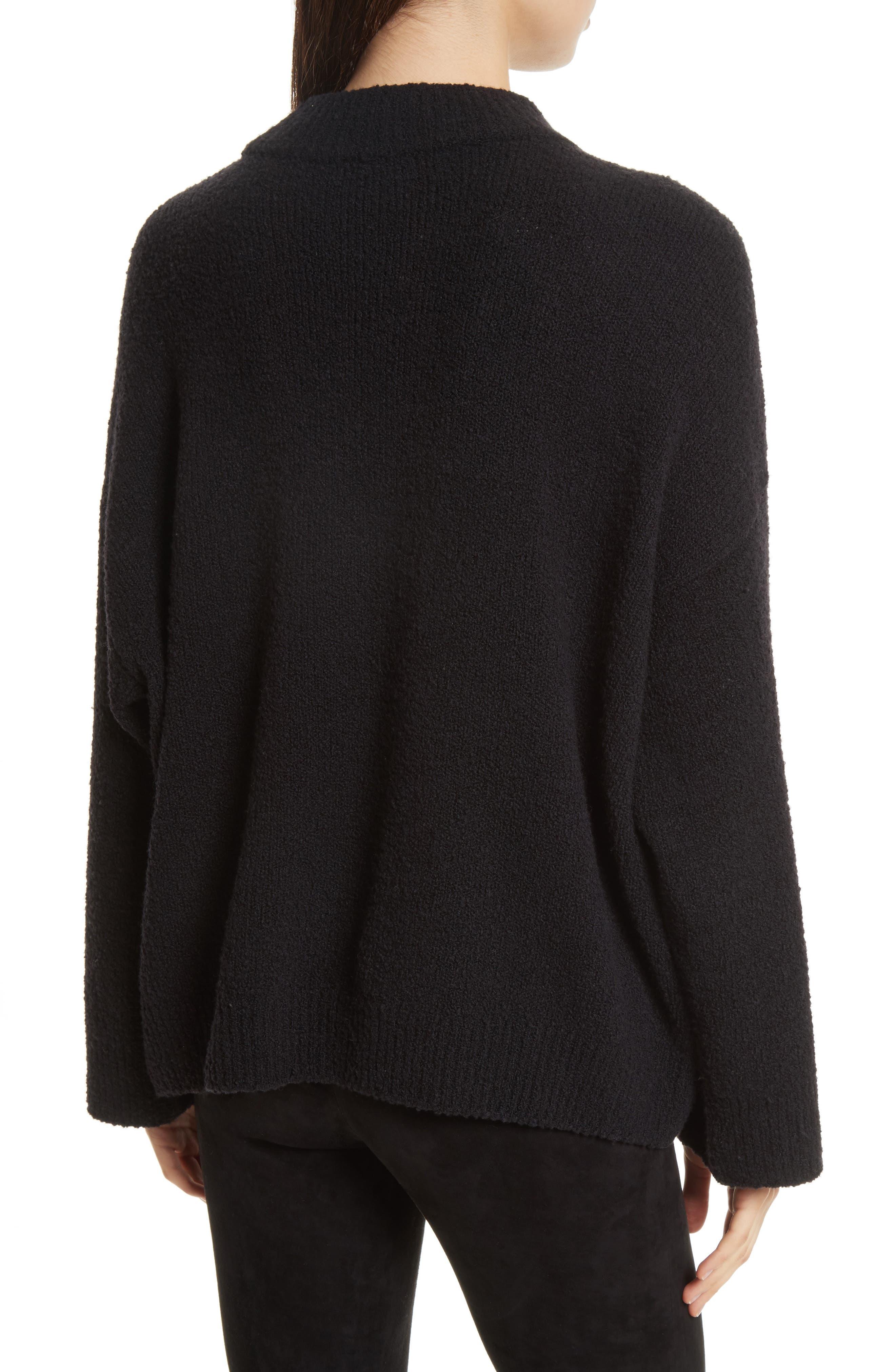 Boxy Knit Pullover,                             Alternate thumbnail 2, color,                             Black