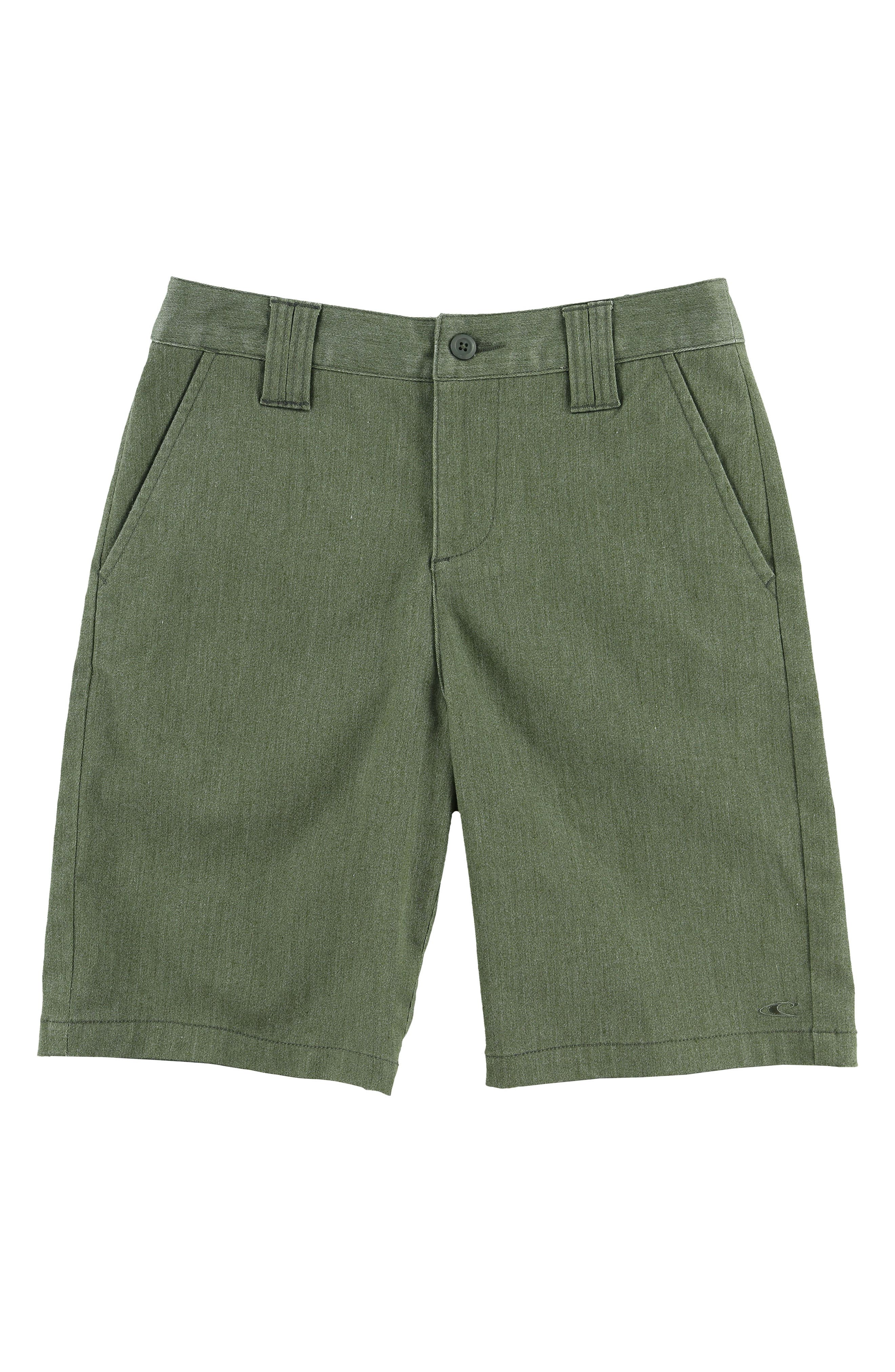 Contact Stretch Shorts,                             Main thumbnail 1, color,                             Army Heather