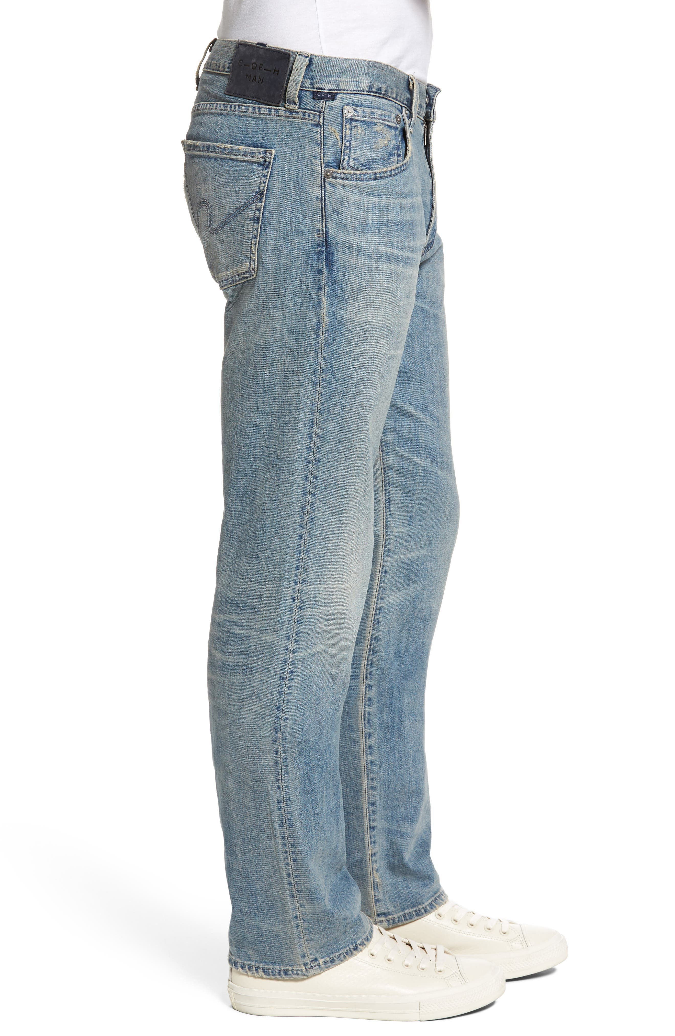 Sid Straight Leg Jeans,                             Alternate thumbnail 3, color,                             Anchor