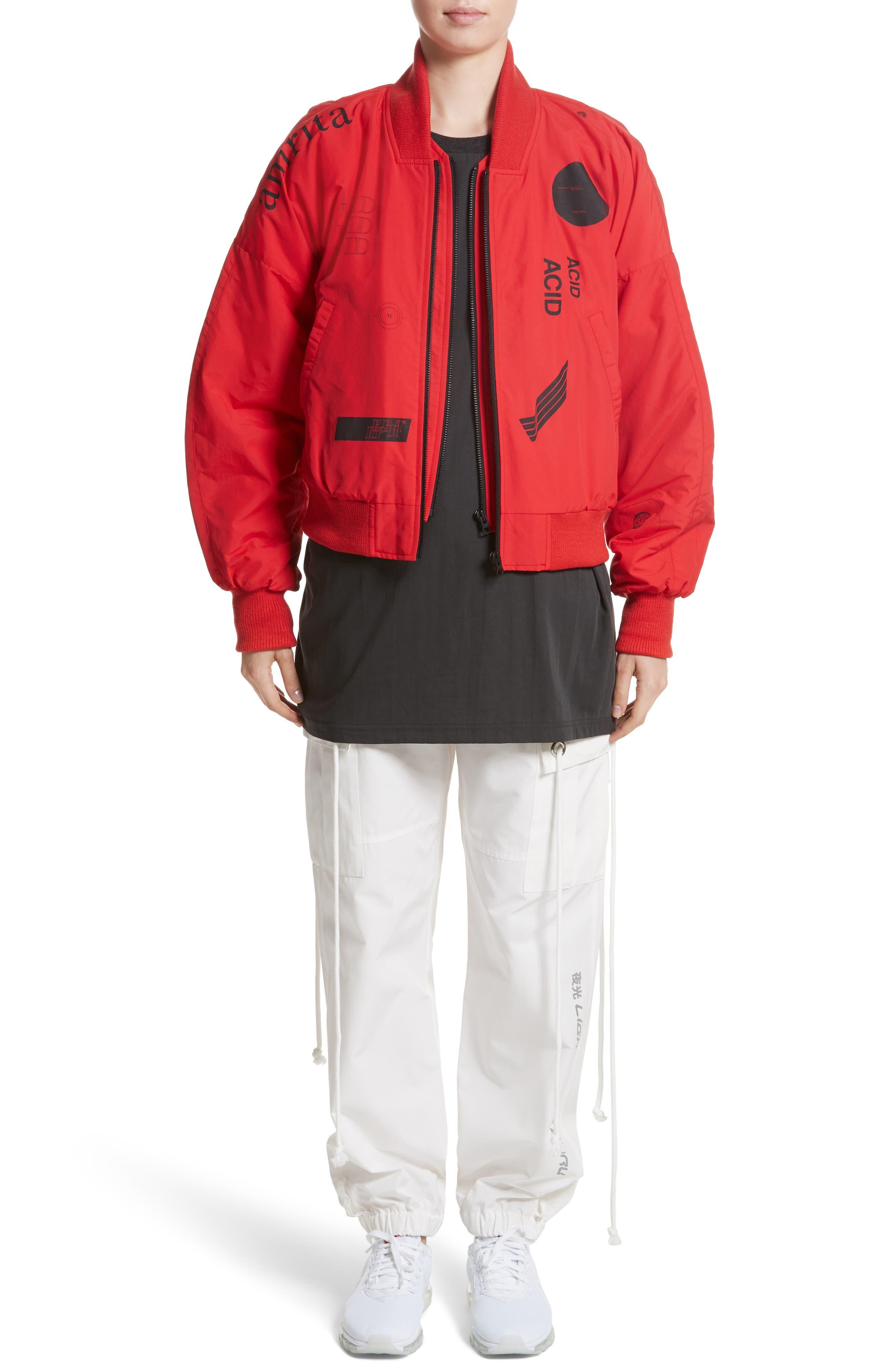 Kaneda Bomber Jacket,                             Alternate thumbnail 8, color,                             Red