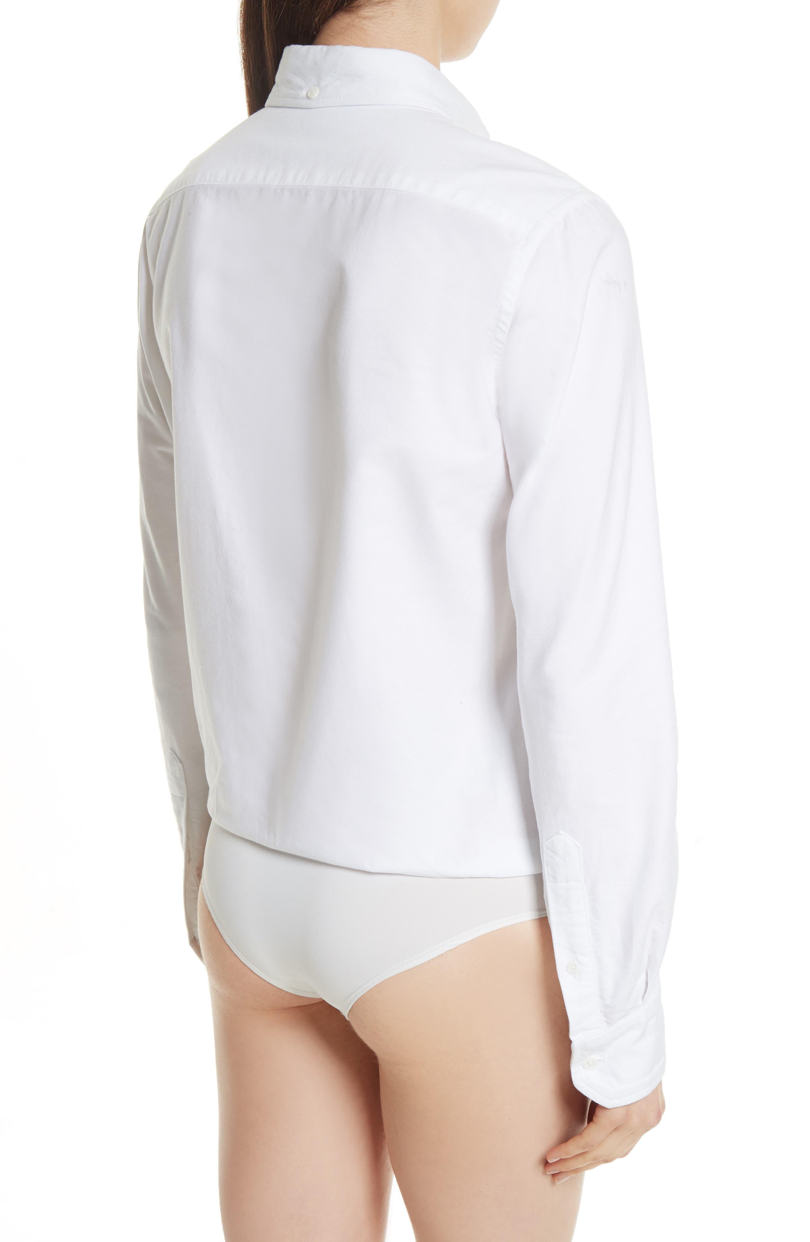 Brigitte Bodysuit,                             Alternate thumbnail 2, color,                             White