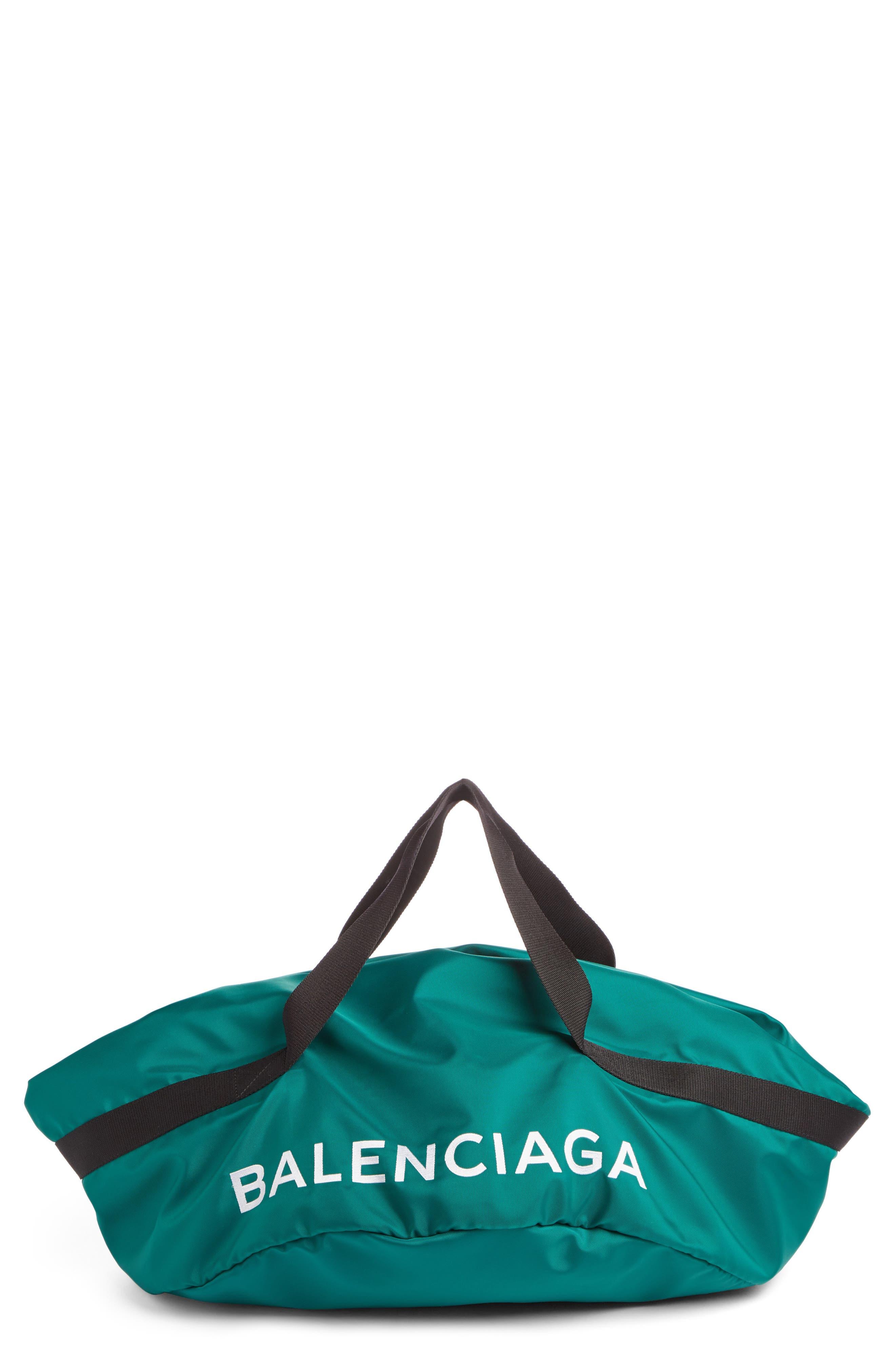 Small Wheel Bag,                         Main,                         color, Vert Emeraude/ Noir