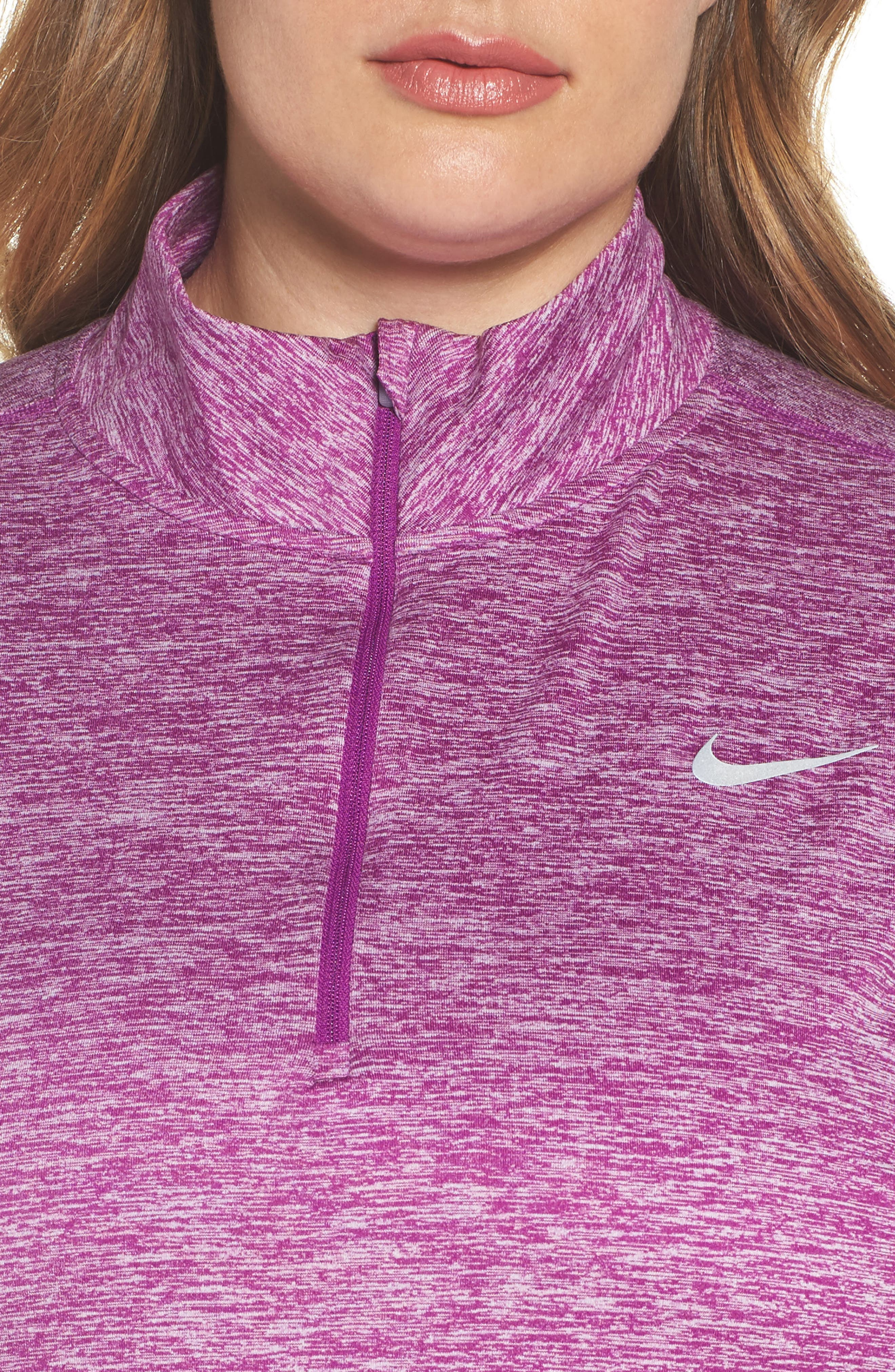 Dry Element Half Zip Top,                             Alternate thumbnail 4, color,                             Bold Berry/ Heather