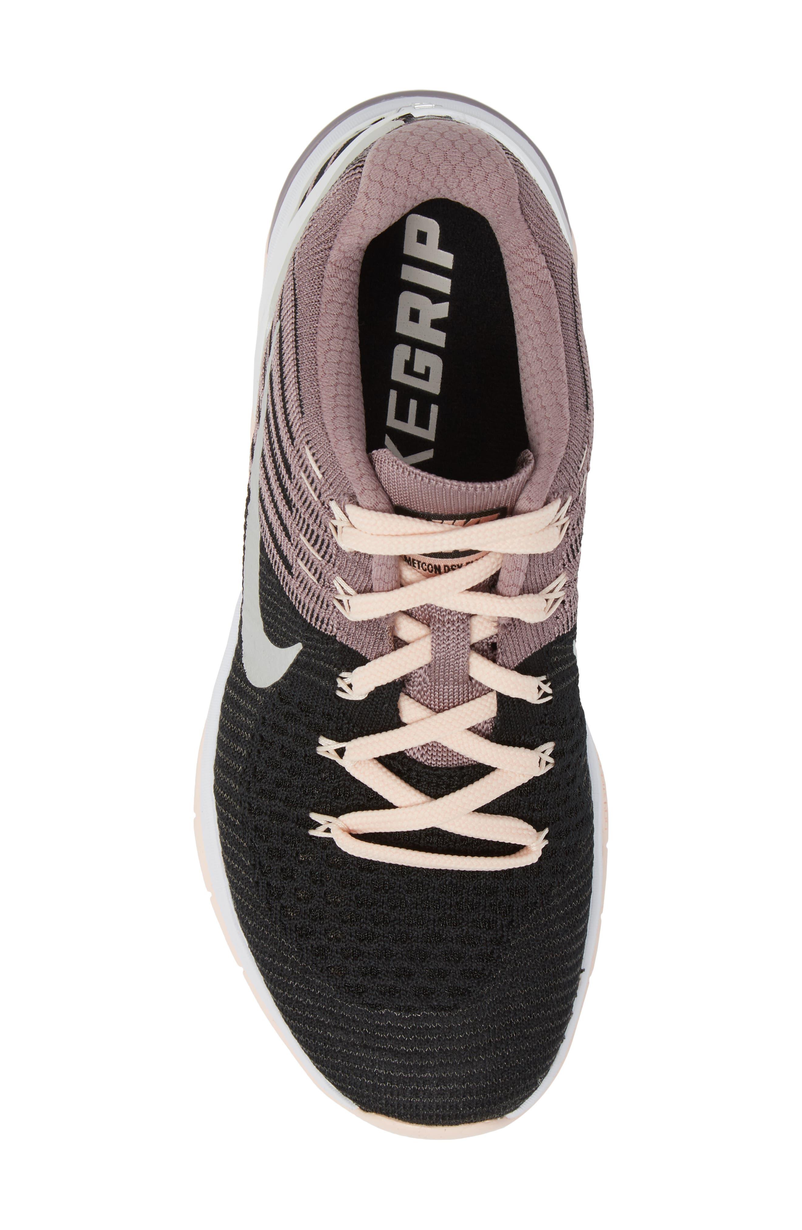 Alternate Image 5  - Nike Metcon DSX Flyknit Chrome Blush Training Shoe (Women)