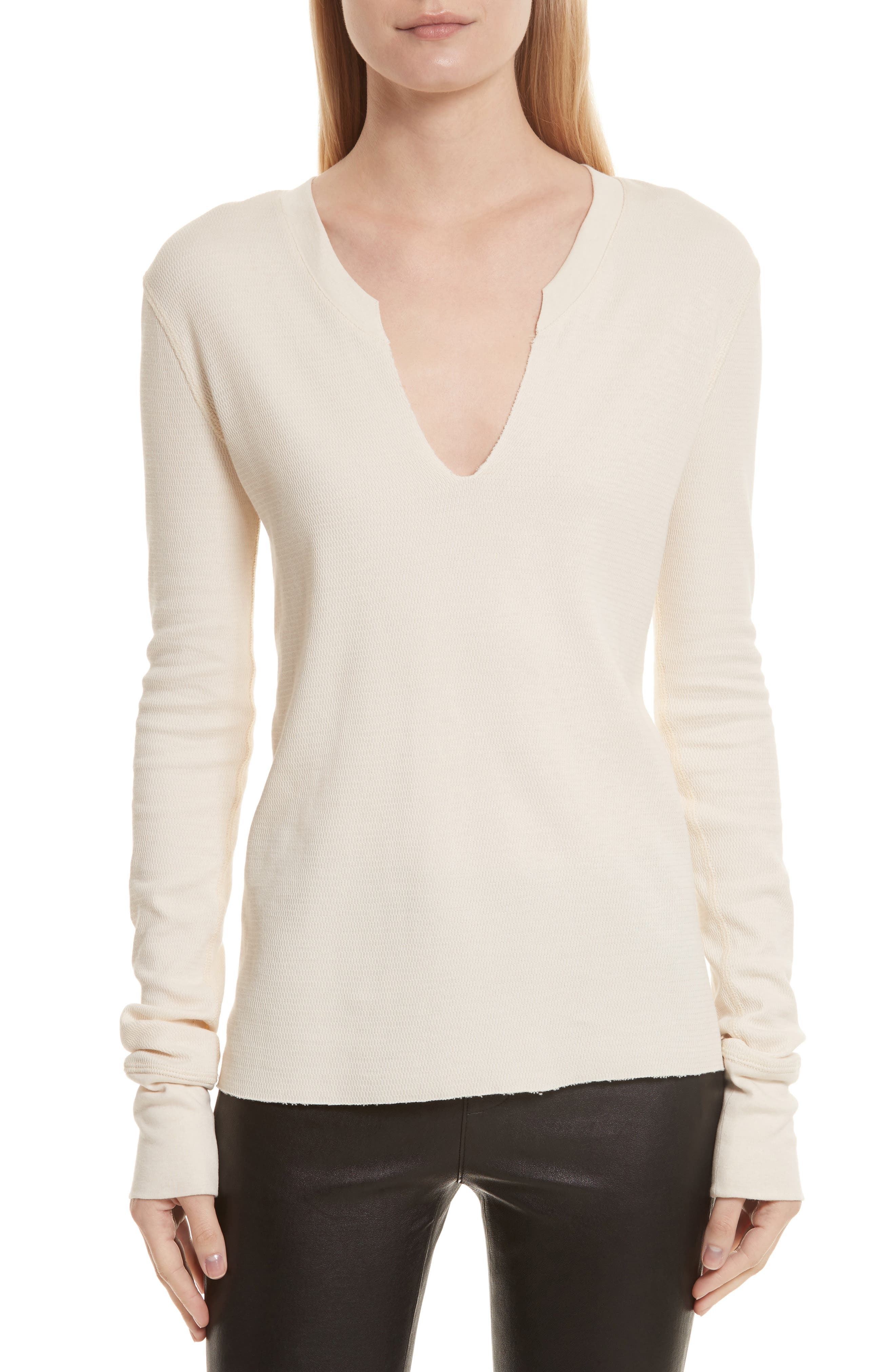 Helmut Lang Slash Neck Military Mesh Top
