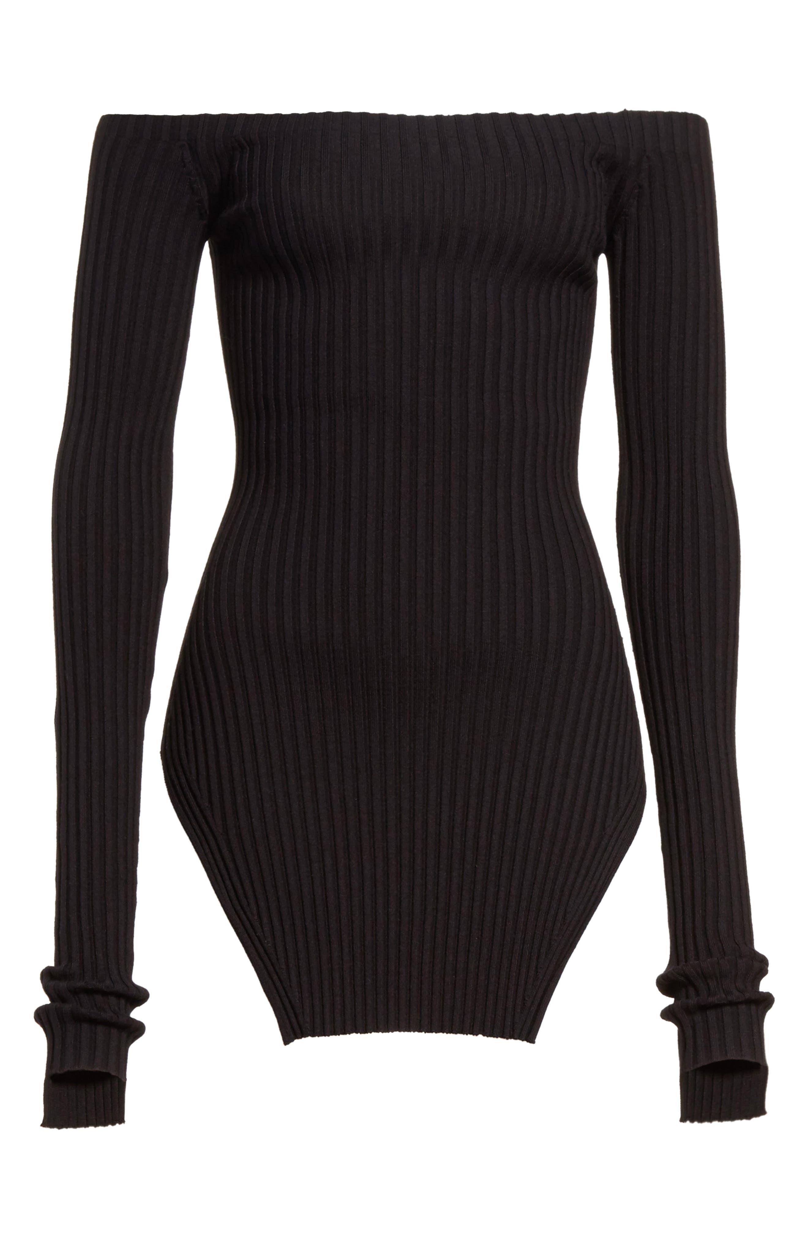 Alternate Image 7  - Helmut Lang Knit Silk Off the Shoulder Sweater