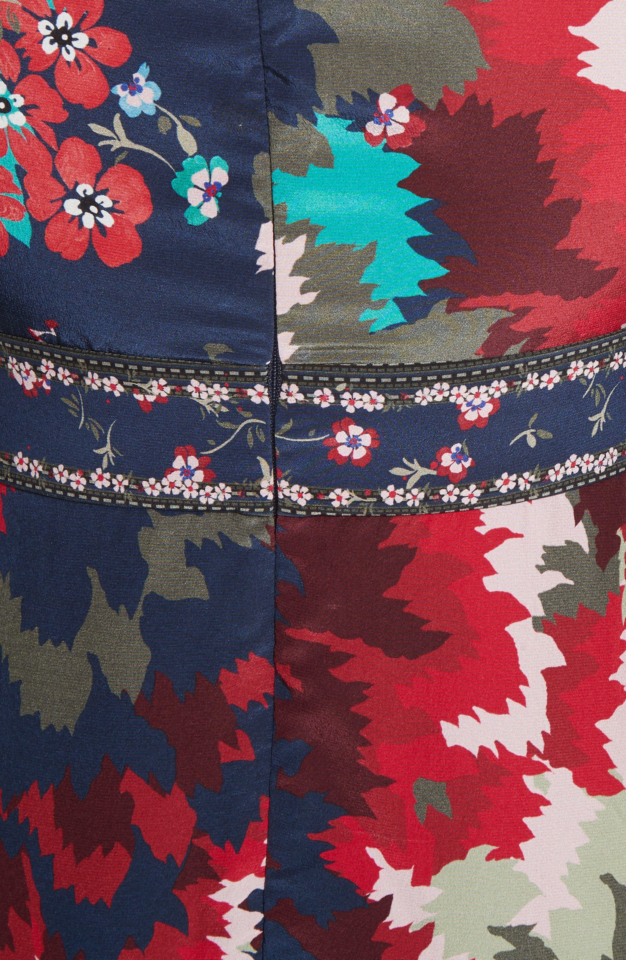 Alternate Image 5  - SALONI Vera-B Silk Minidress