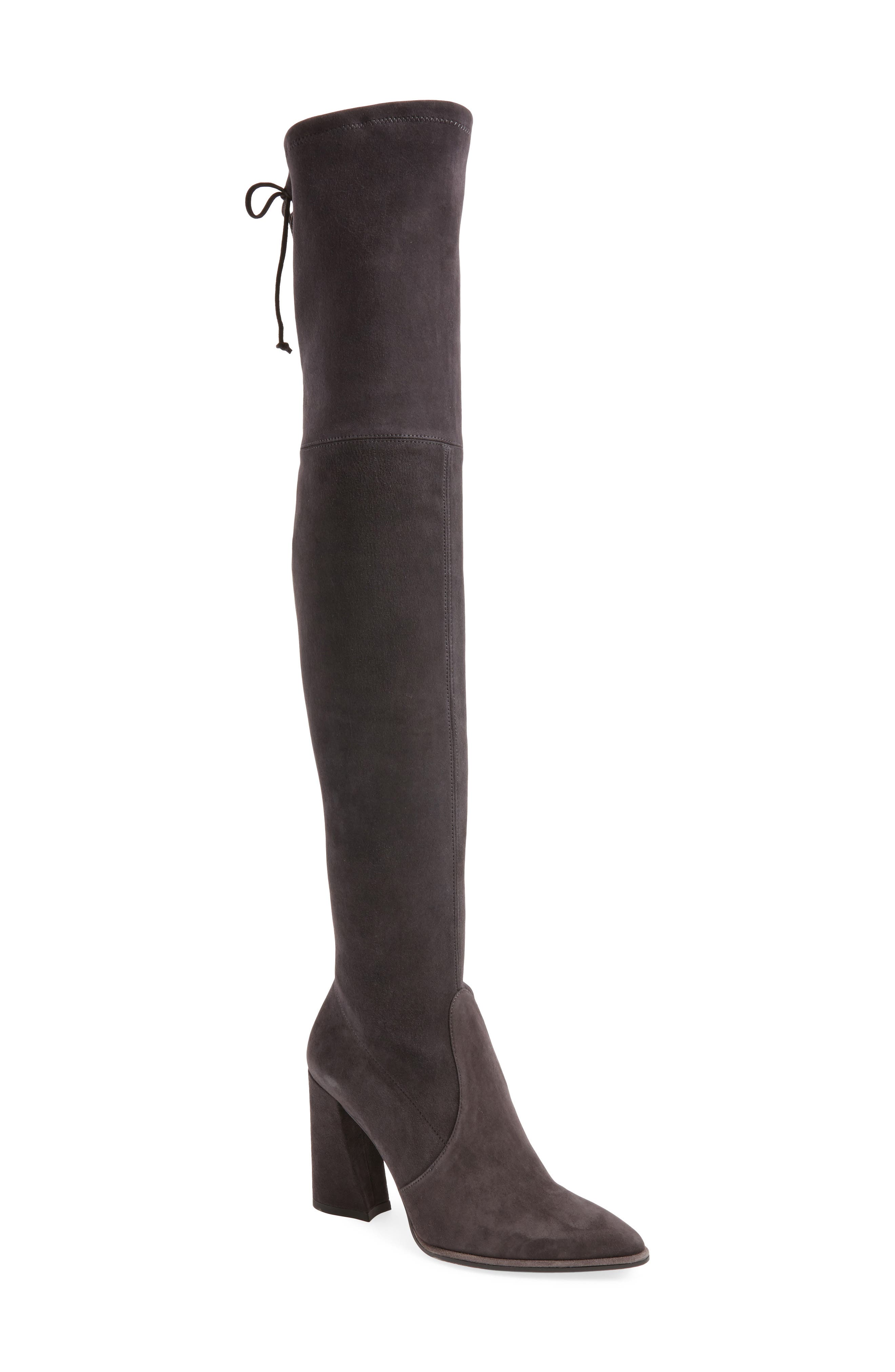 Funland Over the Knee Boot,                         Main,                         color, Anthracite Suede