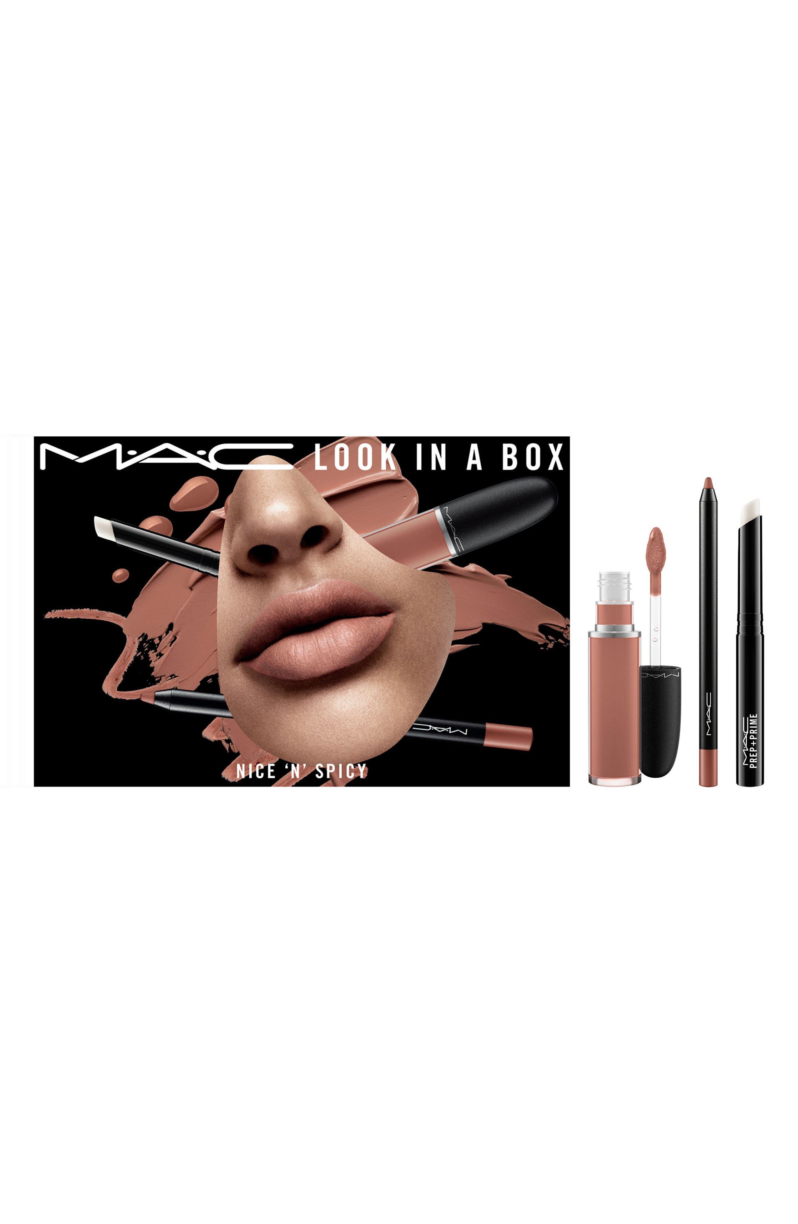 MAC Look in a Box Nice 'n Spicy Lip Kit,                         Main,                         color, No Color