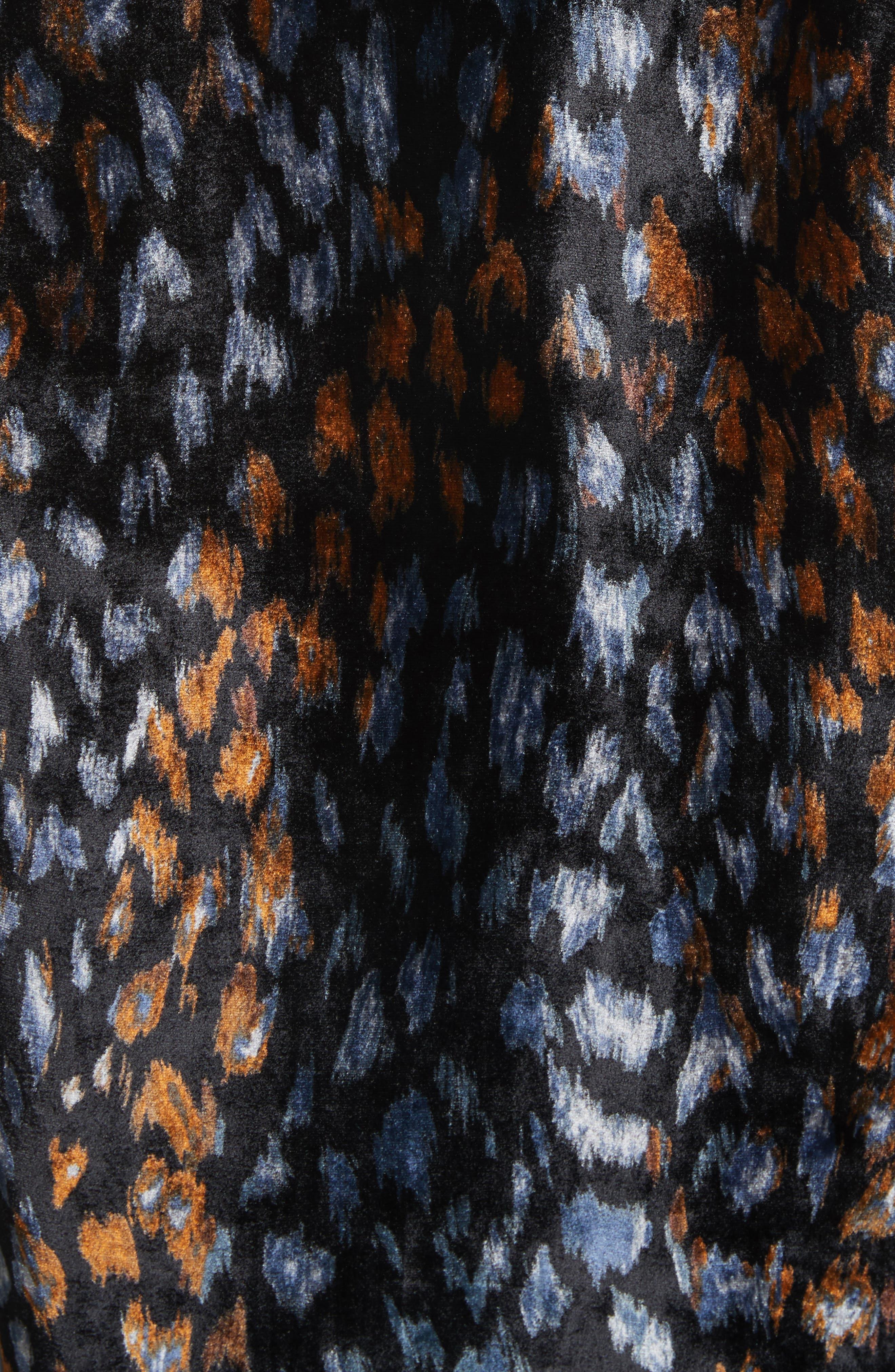 Adalyn Blouse,                             Alternate thumbnail 5, color,                             True Black Multi