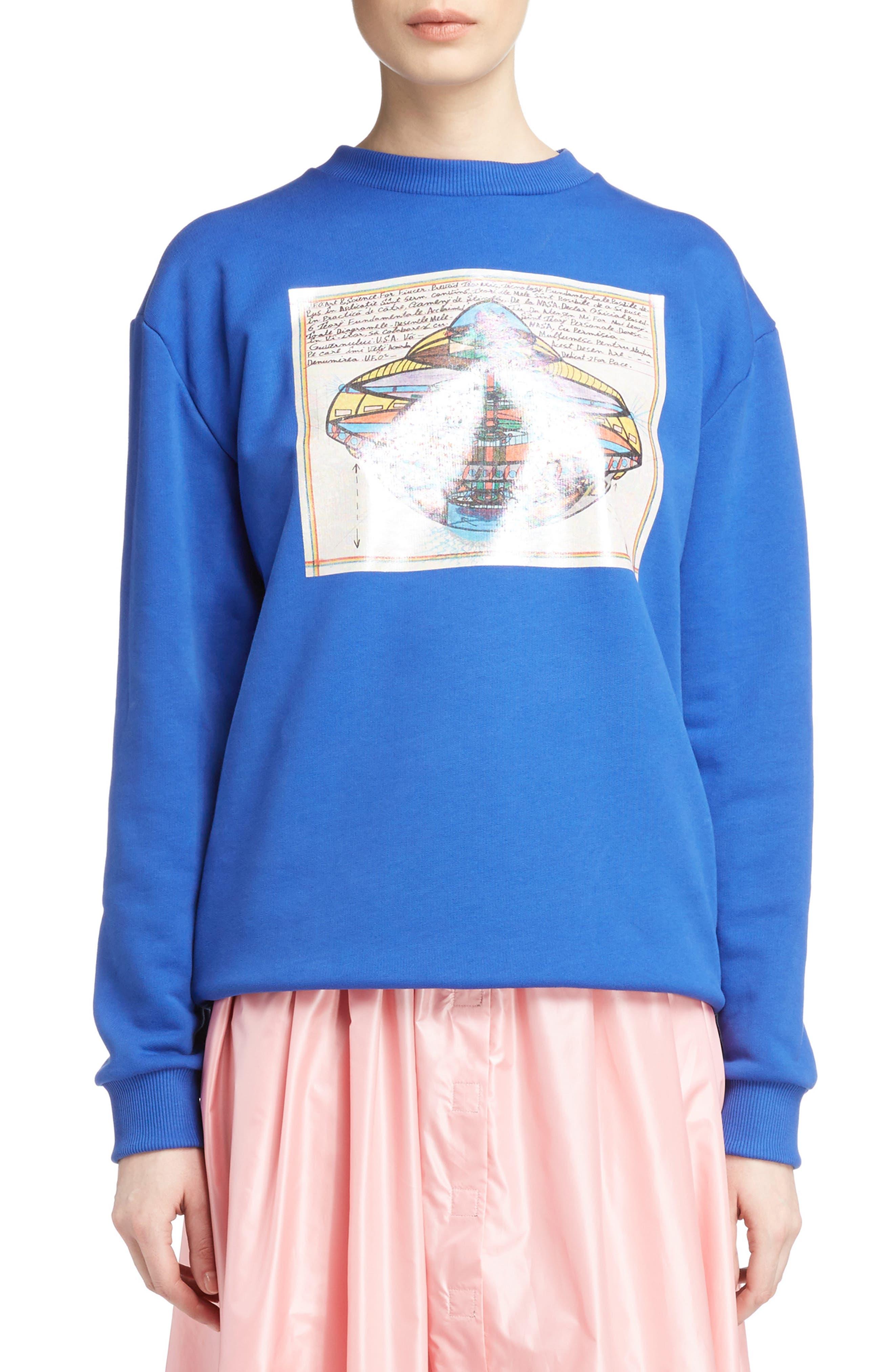 UFO Unisex Sweatshirt,                         Main,                         color, Blue