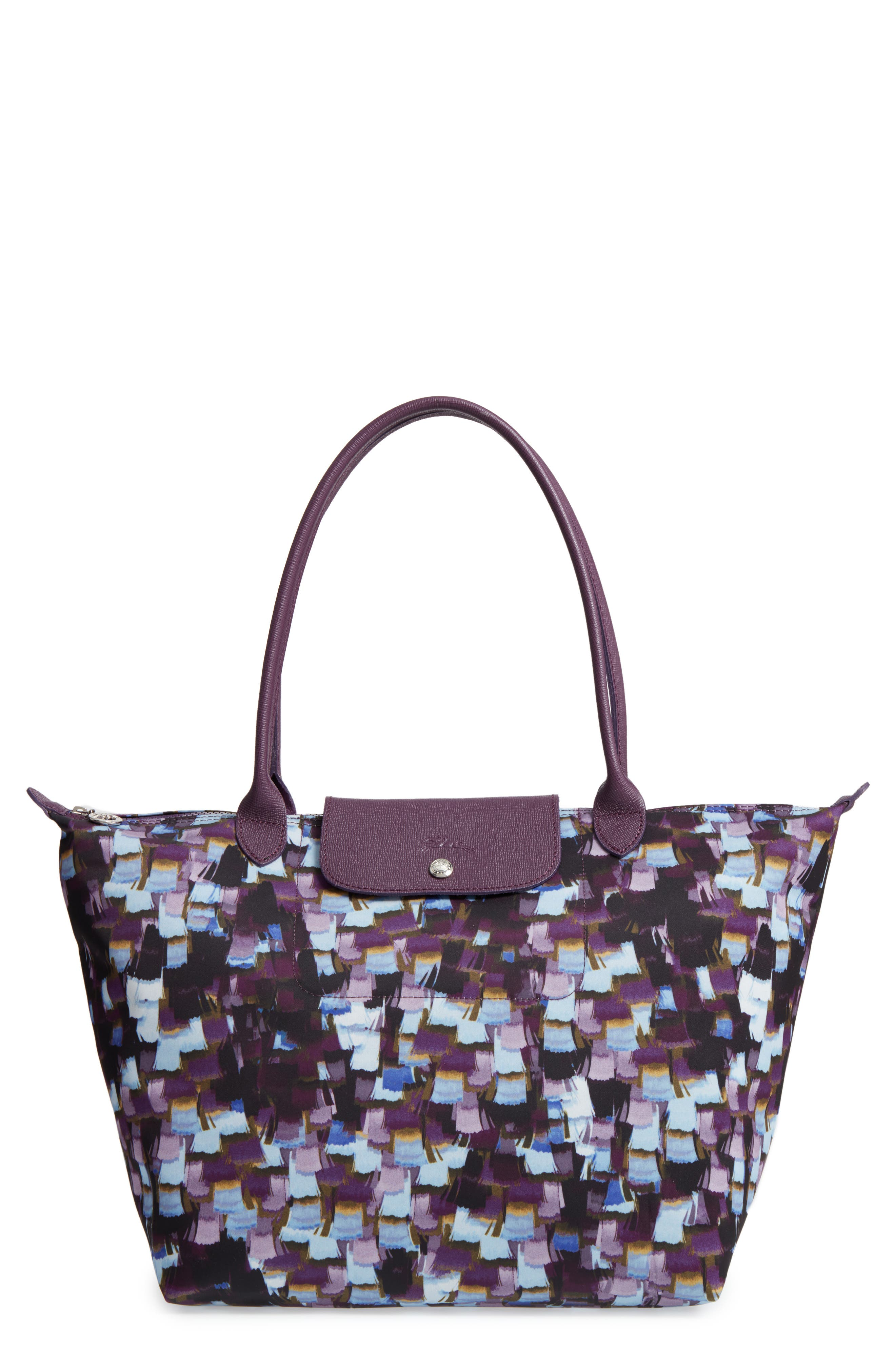 Le Pliage Neo - Vibrations Large Nylon Tote,                             Main thumbnail 1, color,                             Deep Purple