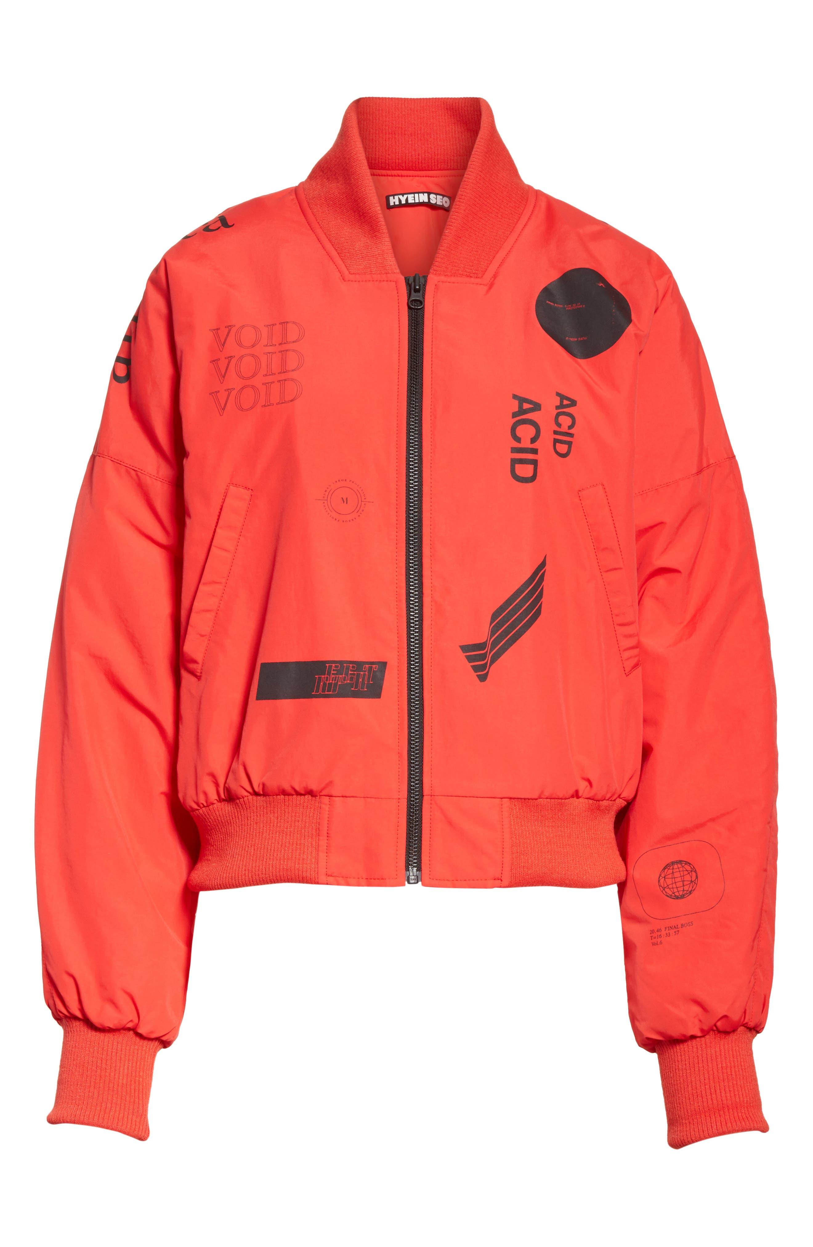 Kaneda Bomber Jacket,                             Alternate thumbnail 7, color,                             Red