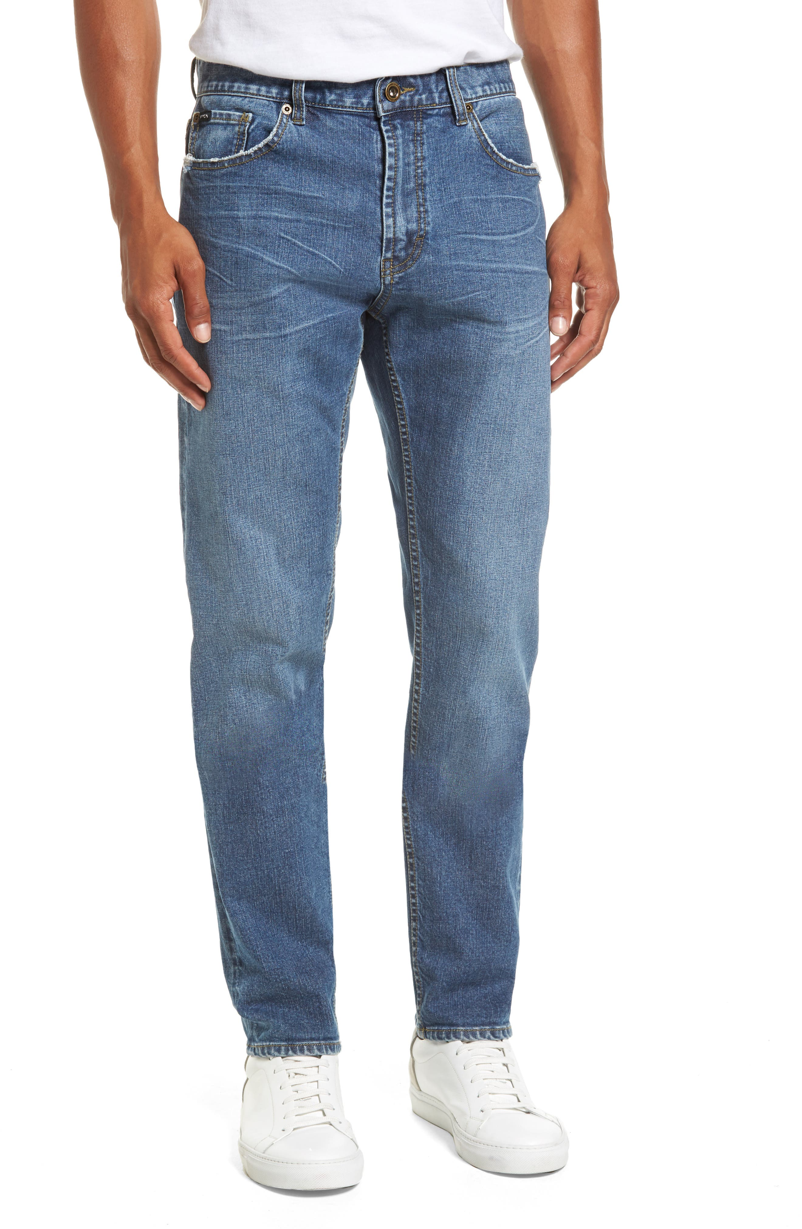 Alternate Image 1 Selected - RVCA Daggers Slim Fit Jeans
