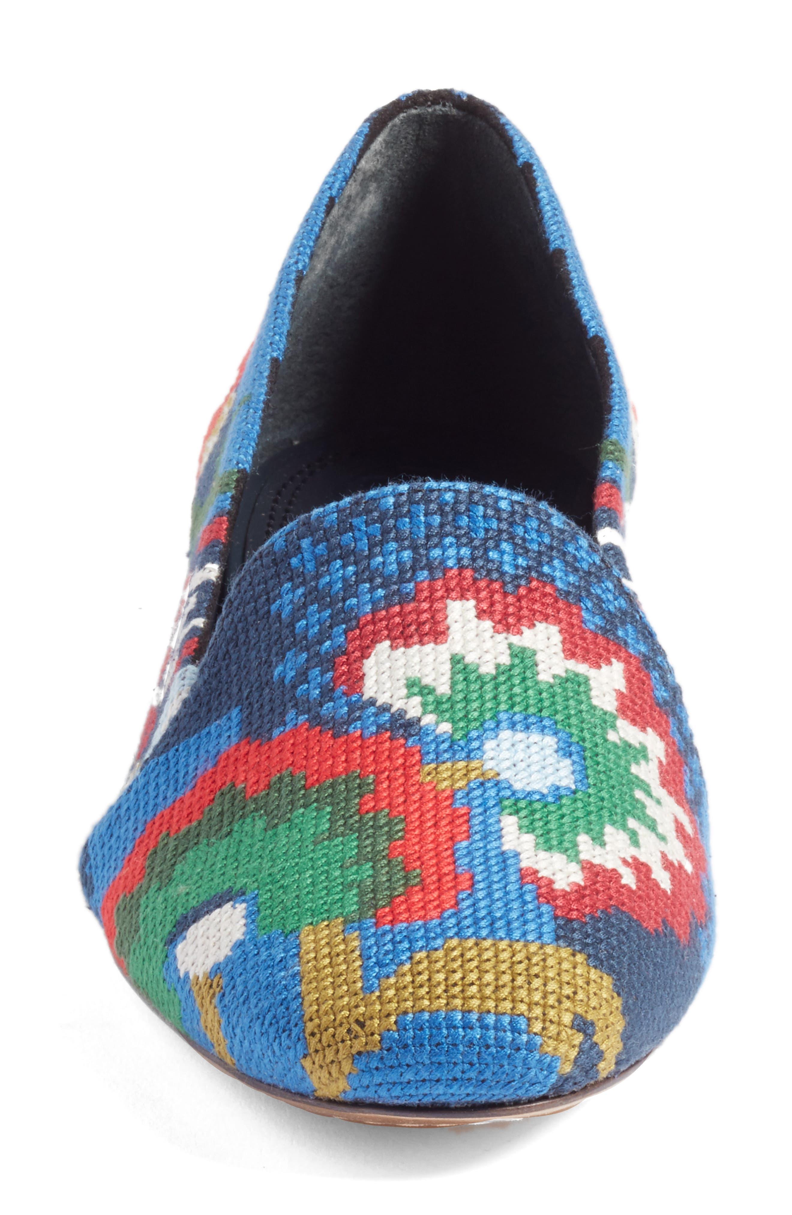 Alternate Image 4  - Tory Burch Sadie Floral Cross Stitch Loafer (Women)