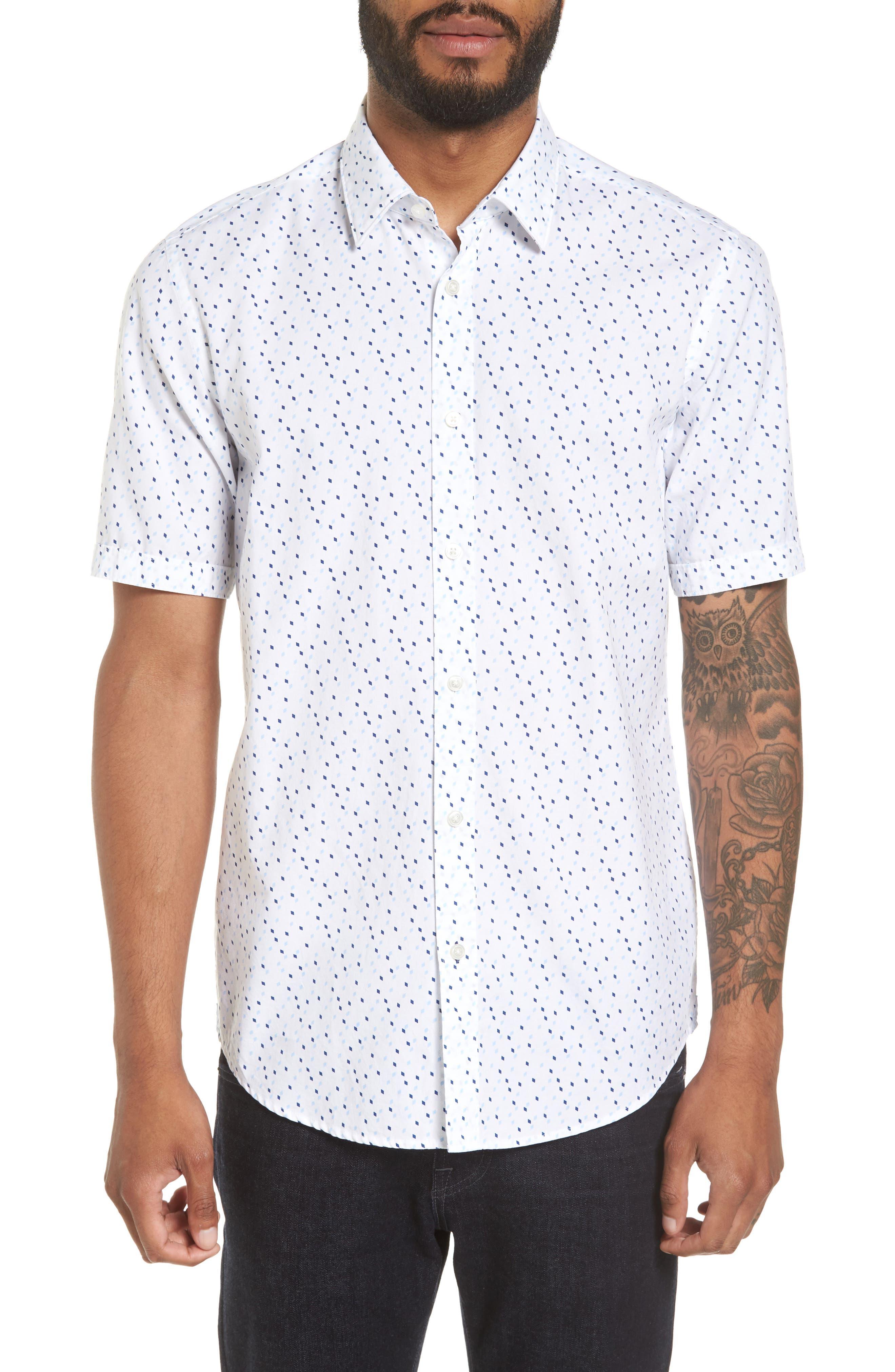 Luka Regular Fit Print Sport Shirt,                         Main,                         color, Navy