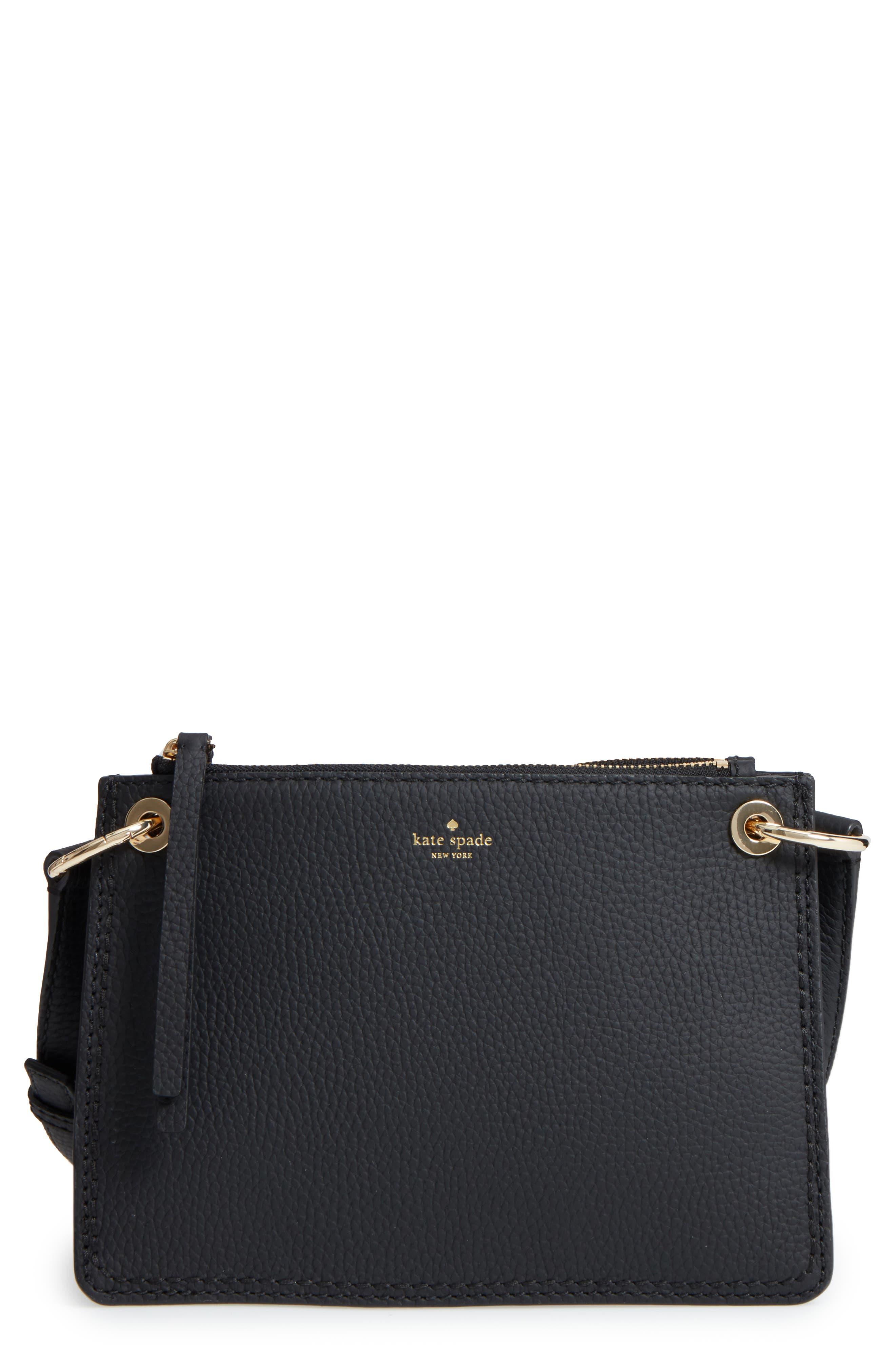 KATE SPADE NEW YORK dunne lane - caro leather crossbody bag