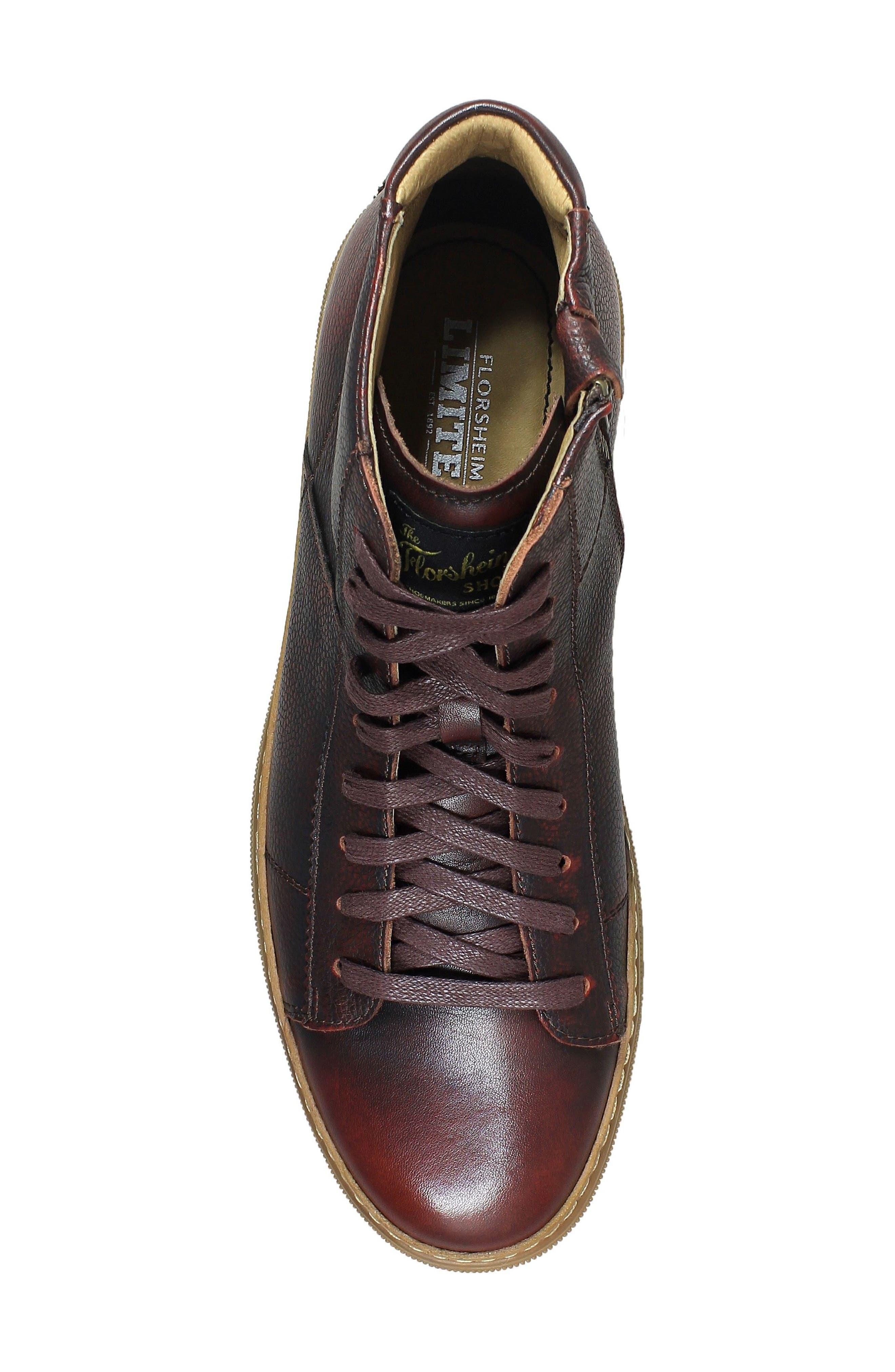 Crew Sneaker,                             Alternate thumbnail 5, color,                             Burgundy