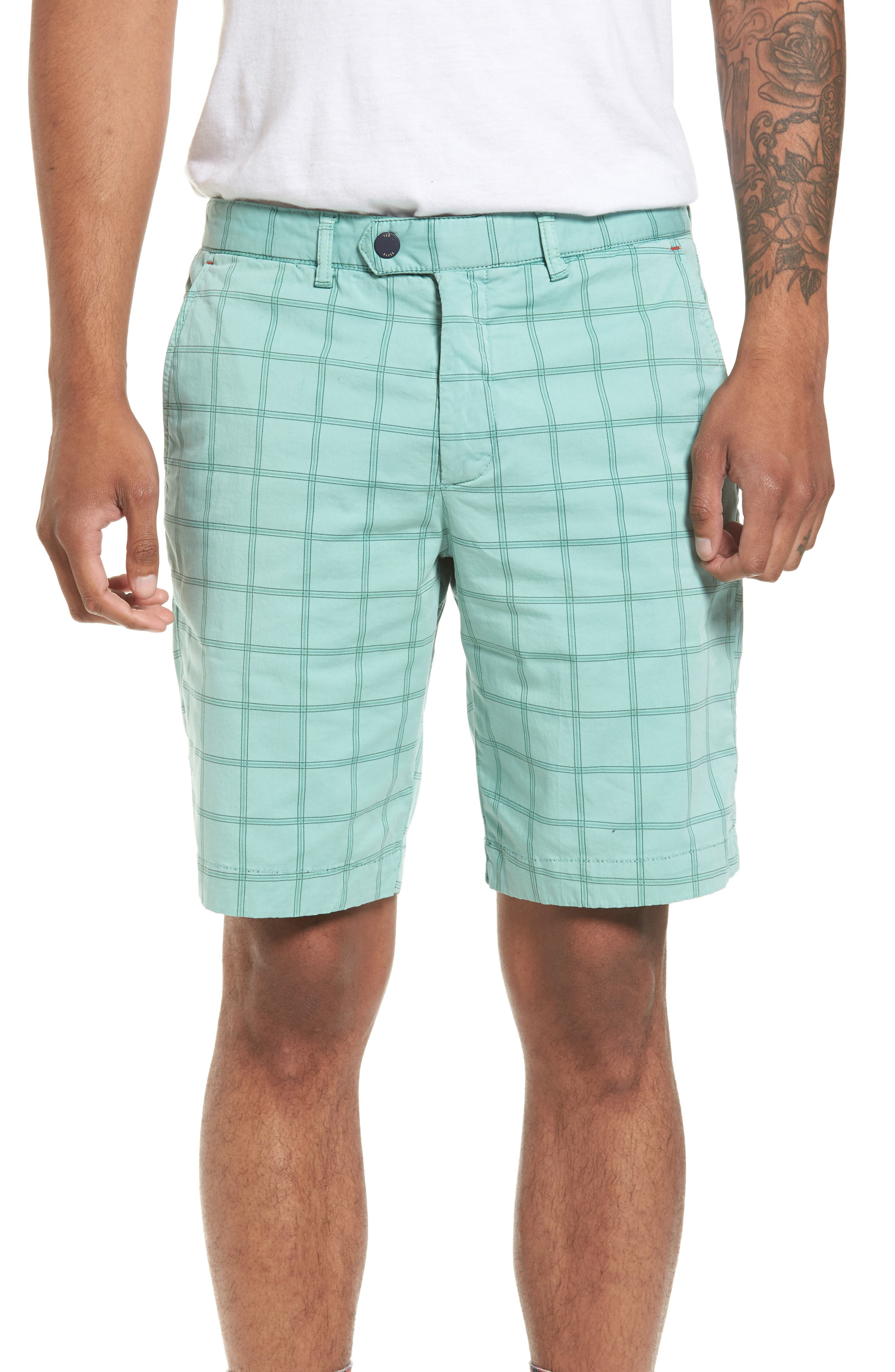 Golfshr Print Golf Shorts,                         Main,                         color, Green