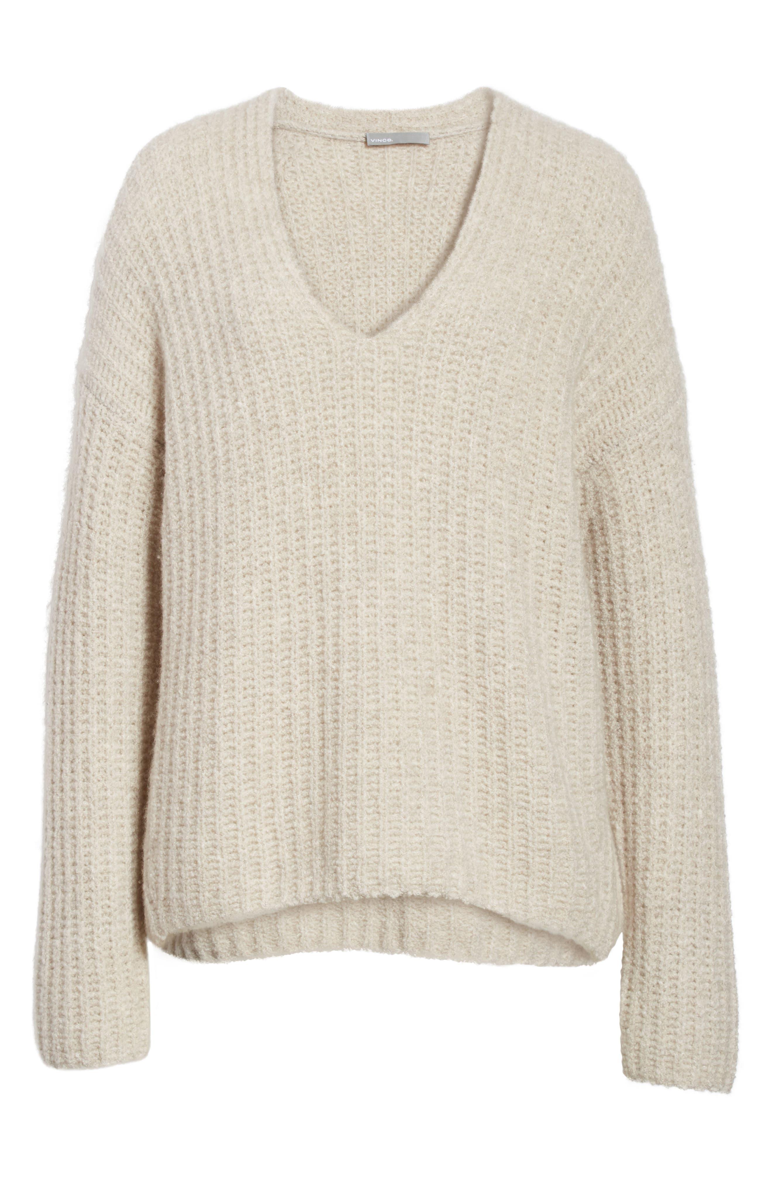 Alternate Image 7  - Vince Deep V-Neck Cashmere Blend Sweater