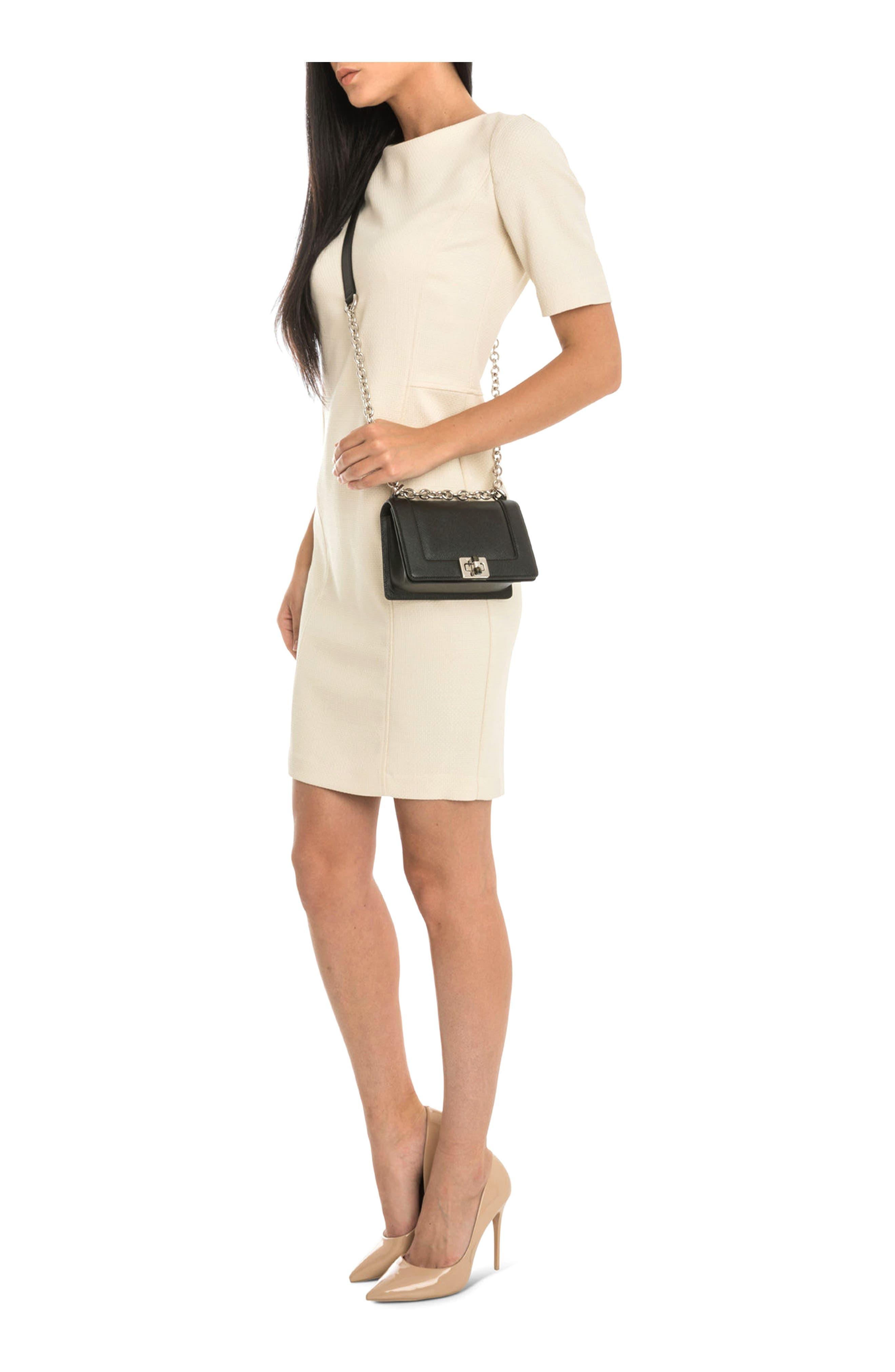 Mini Roberta Evolution Leather Crossbody Bag,                             Alternate thumbnail 2, color,                             Black